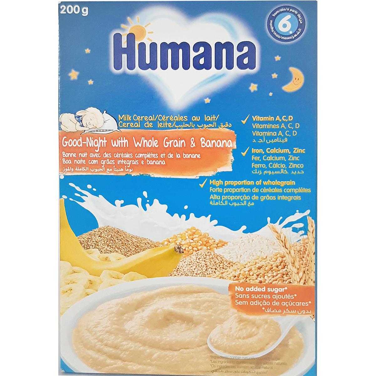 Cereale cu lapte Humana Noapte Buna, 200 g, 6 luni+ imagine