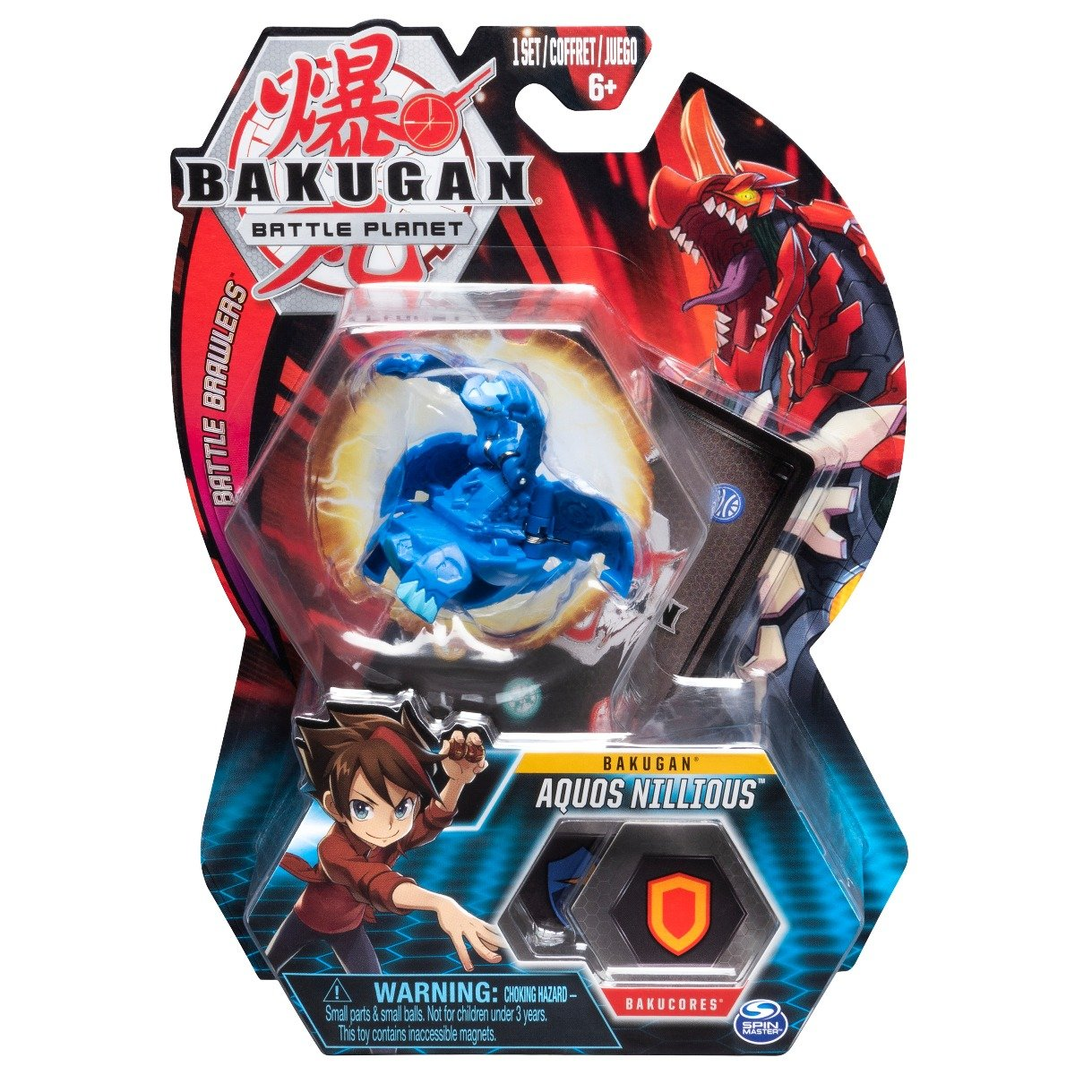 Figurina Bakugan Battle Planet, Double Head Dragon, Blue, 20107947