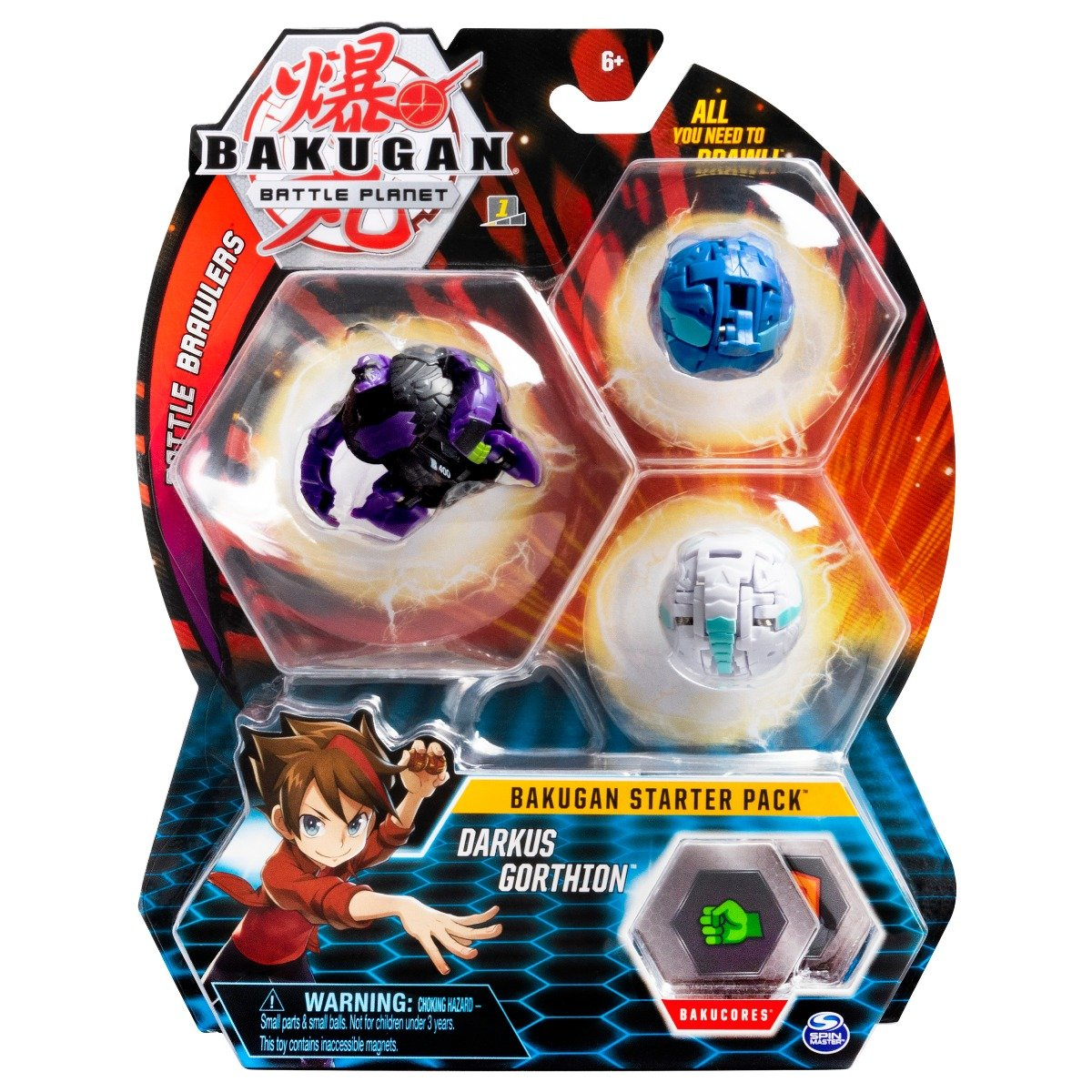 Set Bakugan Battle Planet Starter Darkus Gorthion, 20109157