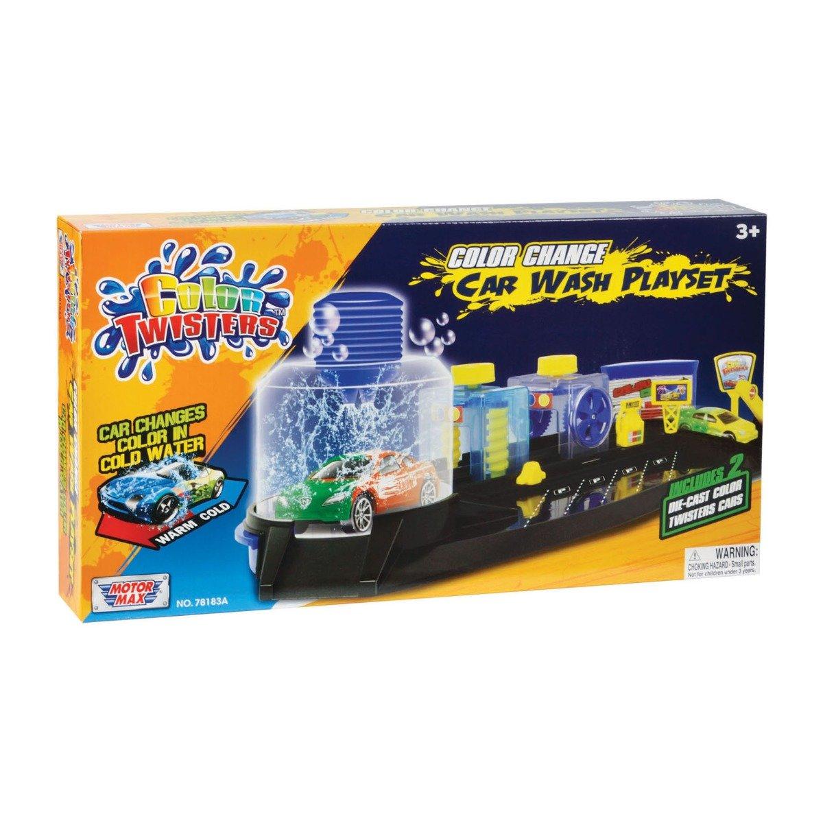 Set de joaca Spalatorie de masini Motormax Color Twisters