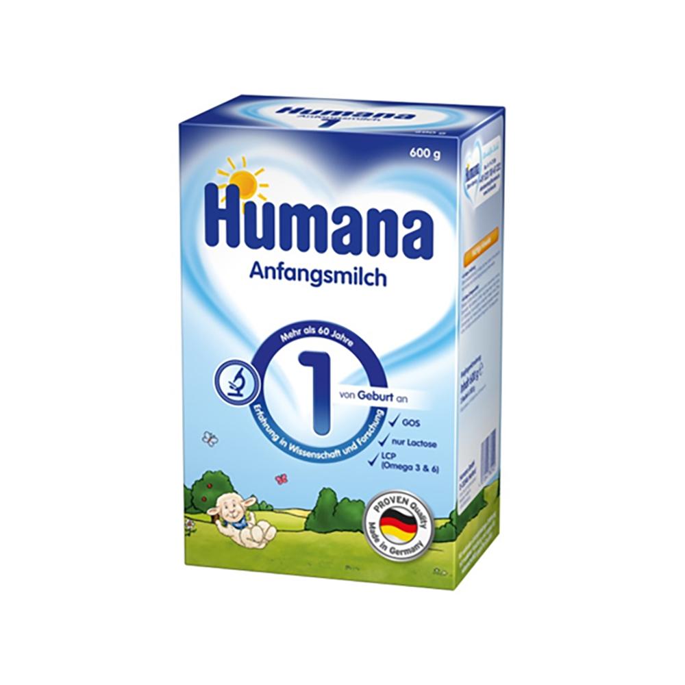 Lapte praf Humana 1, 600 g, 0 luni+ imagine