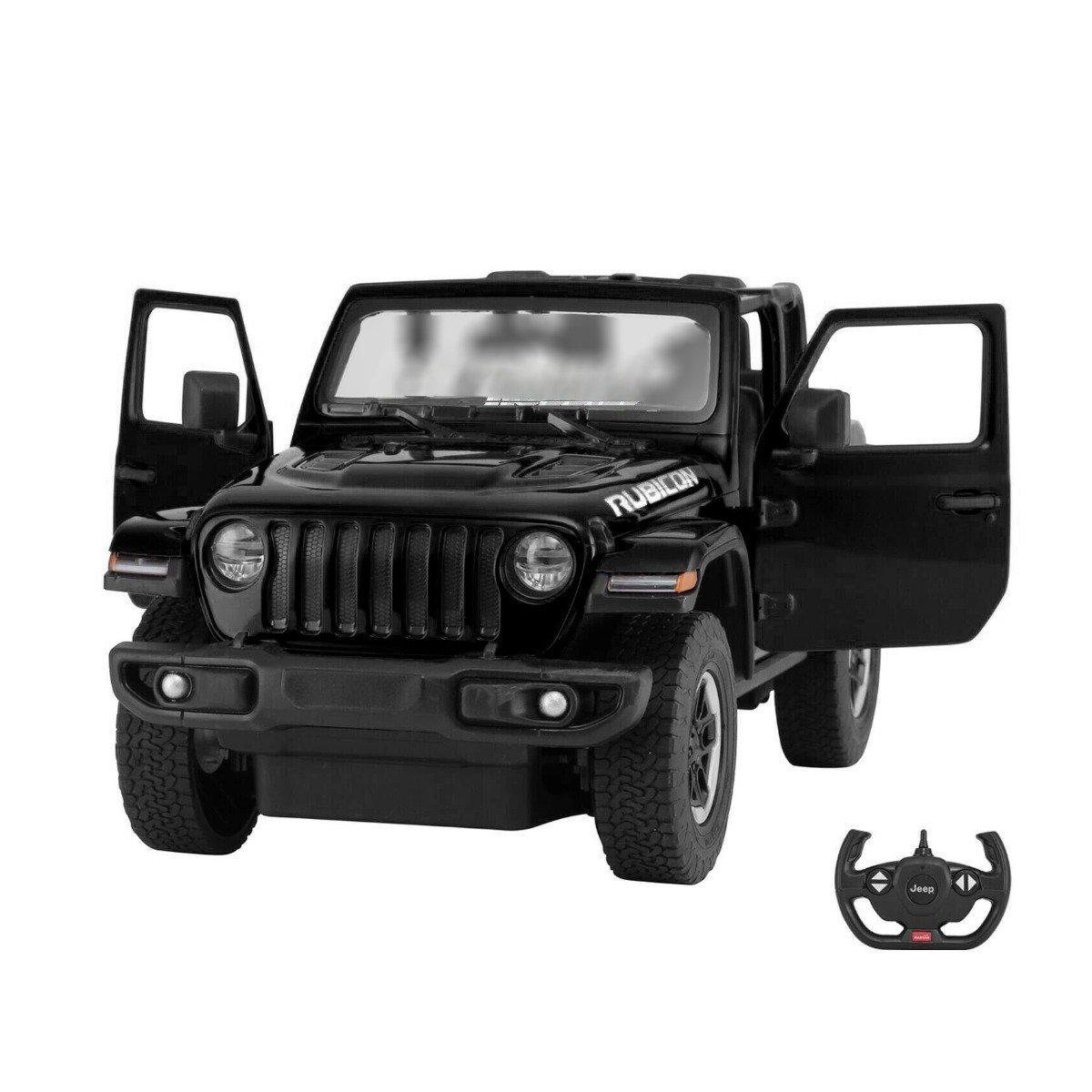 Masina cu telecomanda Rastar Jeep Wrangler, RC, 1:14, Negru
