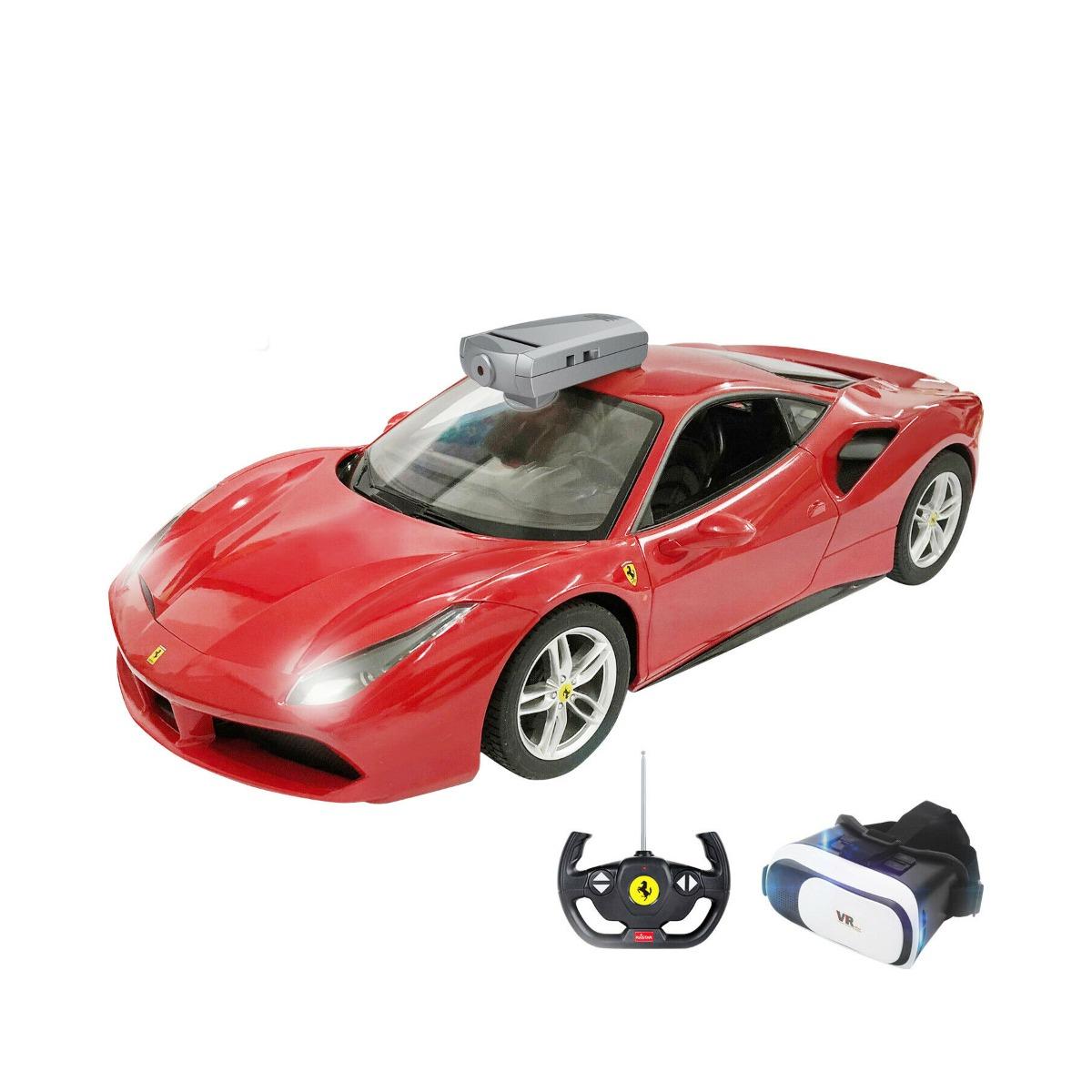 Masina cu telecomanda si ochelari VR Rastar Ferrari 488 GTV, RC, 1:14, Rosu