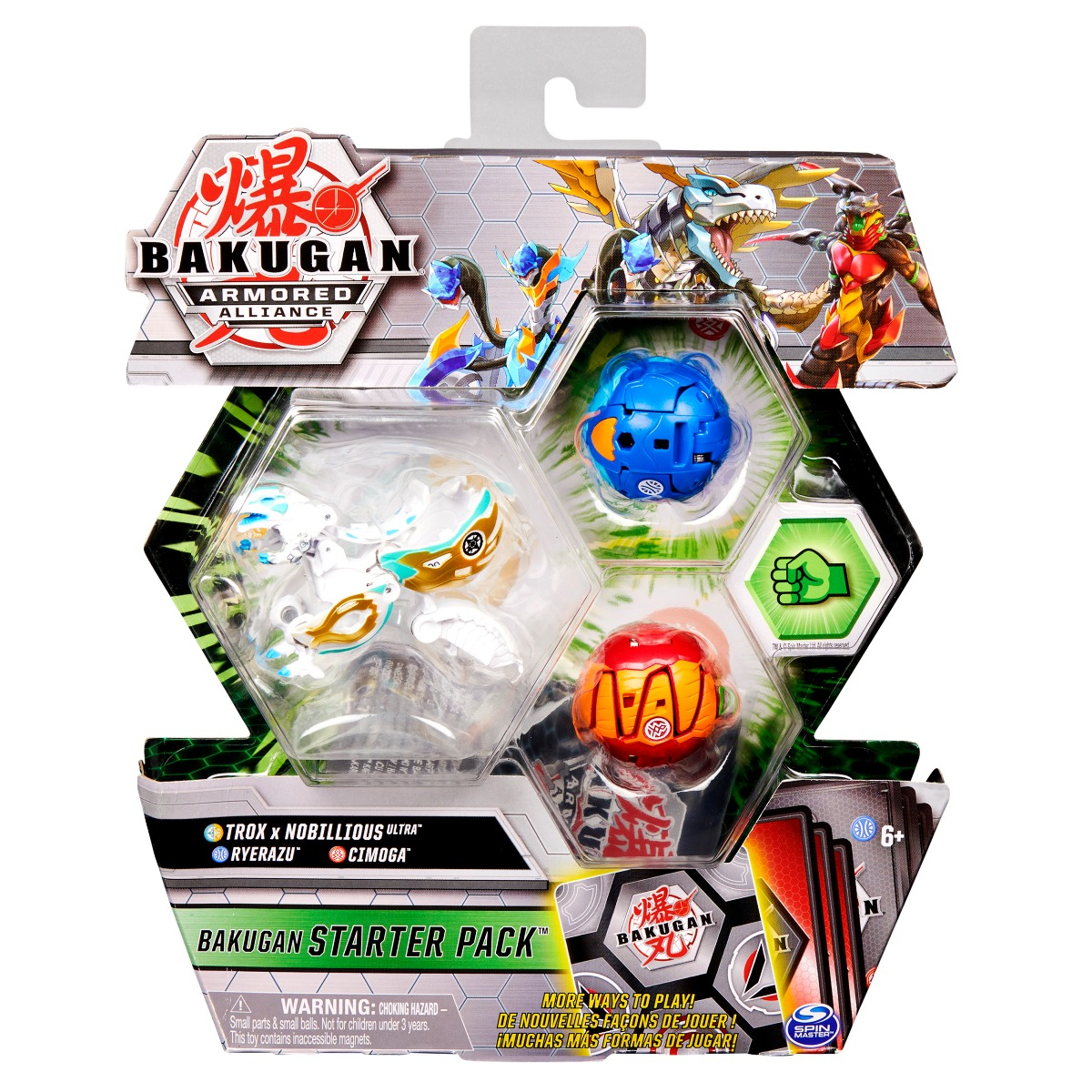 Set Bakugan Armored Alliance, Trox x Nobillious Ultra, Ryerazu, Cimoga 20125407