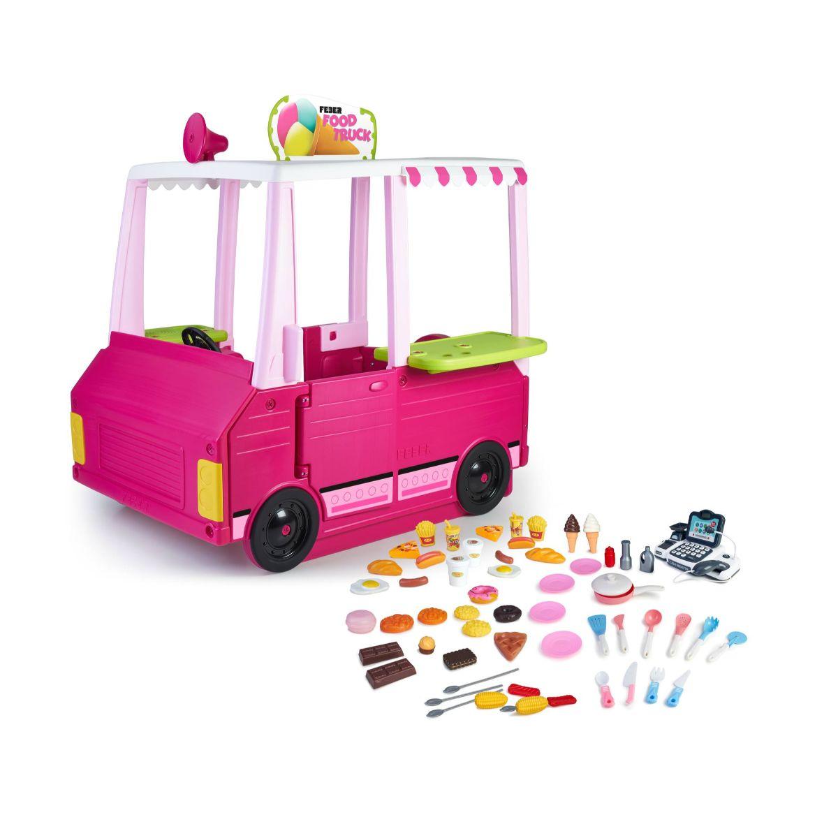 Ansamblu de joaca pentru copii food truck cu accesorii Feber