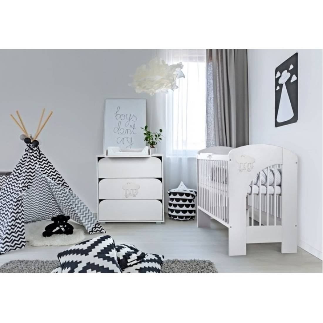 Mobilier Camera copii si Bebelusi Klups Nel Cloud, Alb