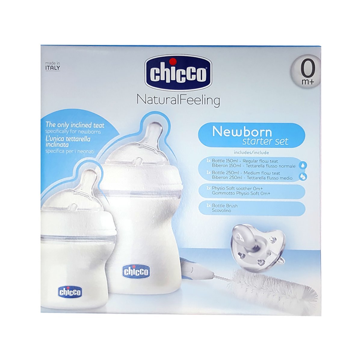 Set nou nascut Natural Feeling Physio Soft Chicco, 0 luni + imagine