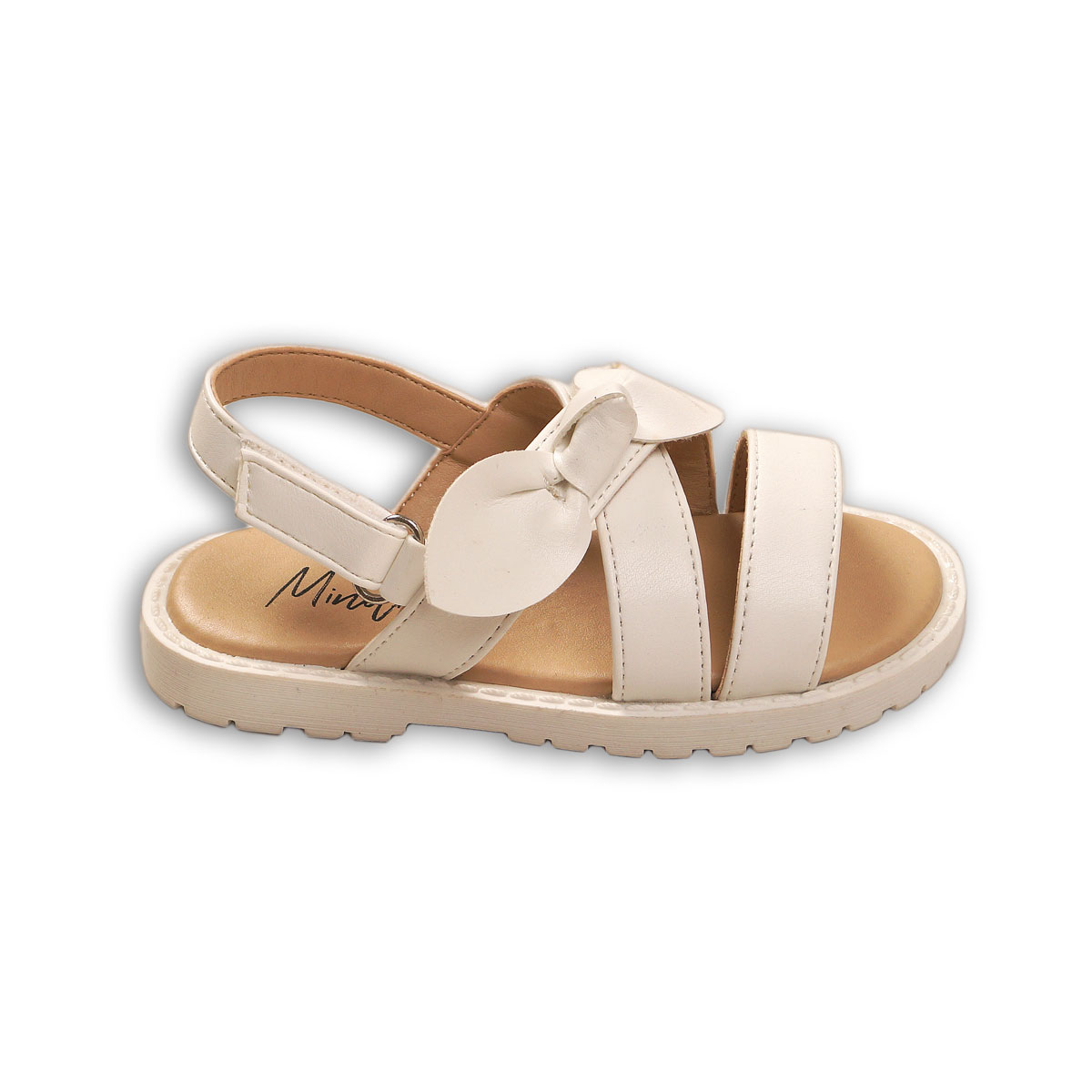 Sandale in curele si funda aplicata, Minoti Shoe
