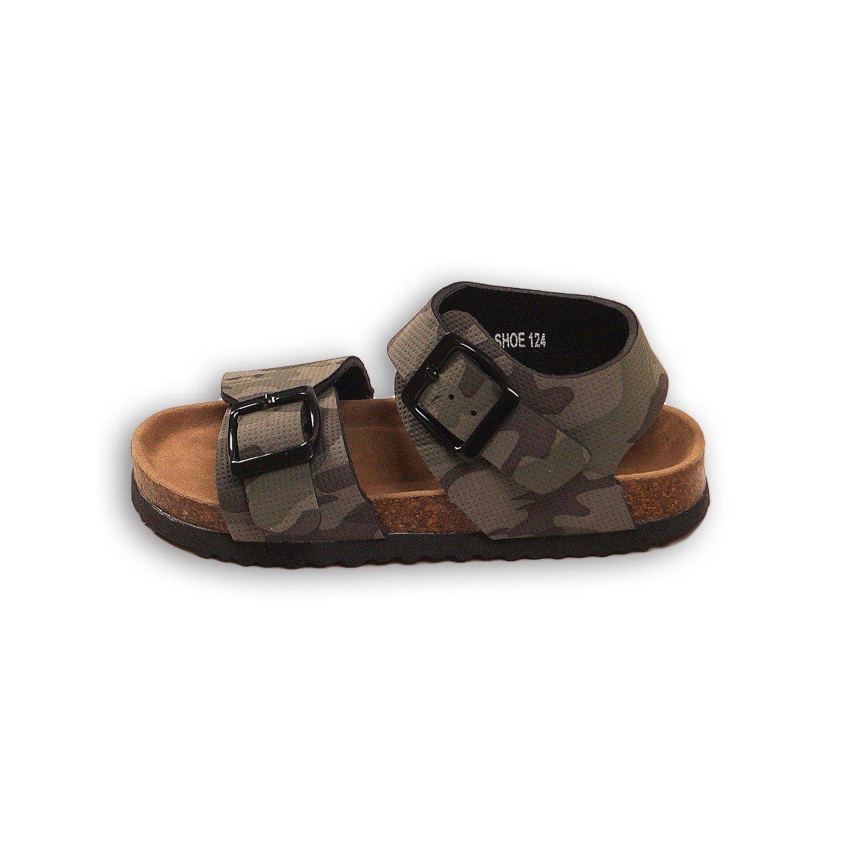 Sandale cu imprimeu total camuflaj, Minoti Shoe