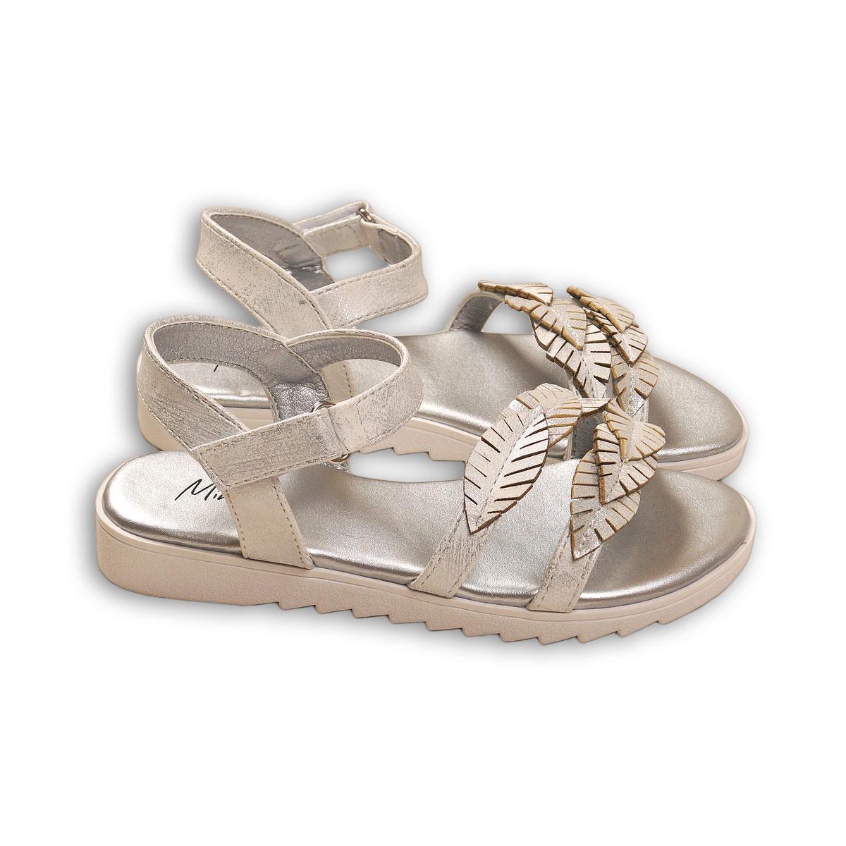 Sandale cu detaliu de frunze aplicate, Minoti Shoe
