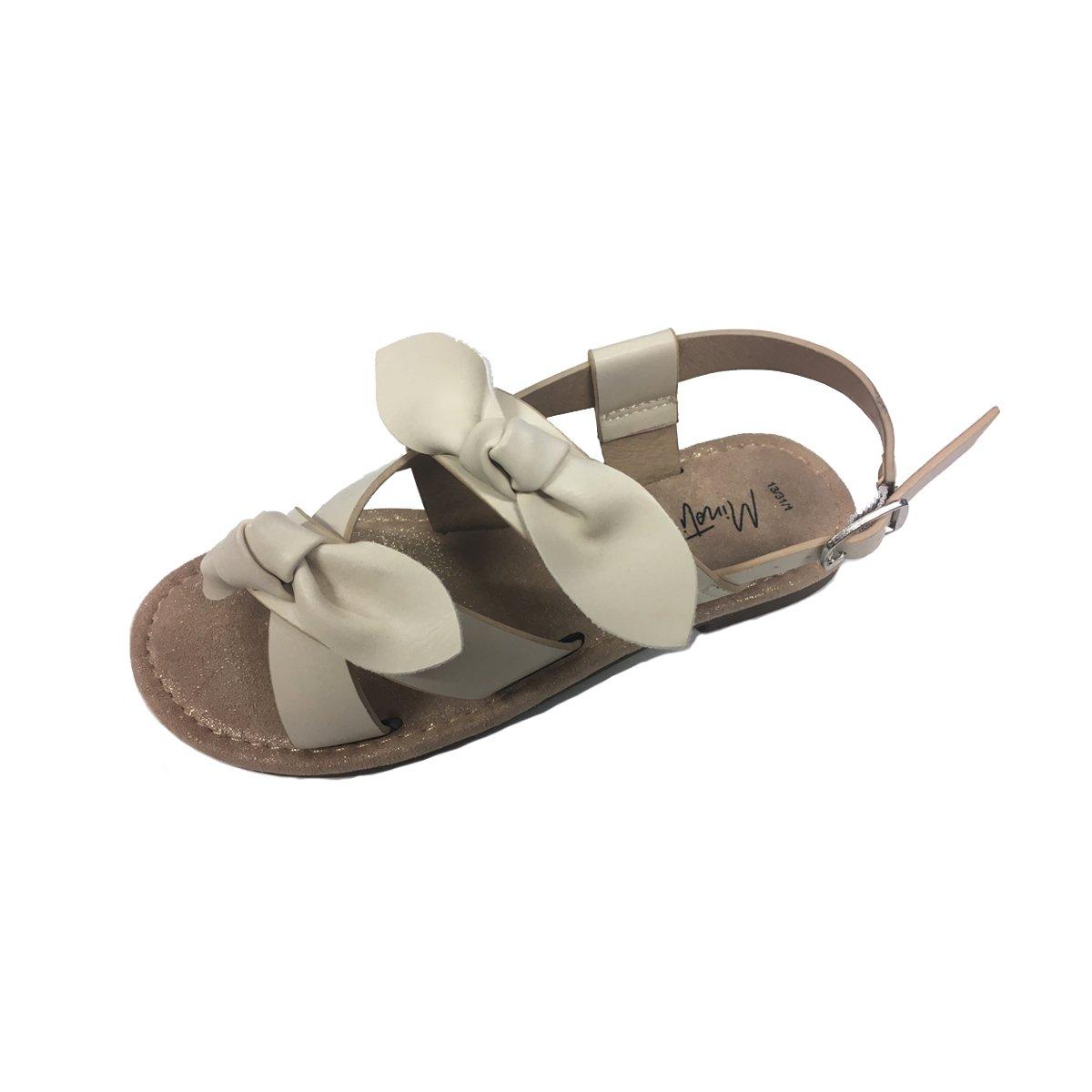 Sandale in curele si cu funde aplicate, Minoti Shoe