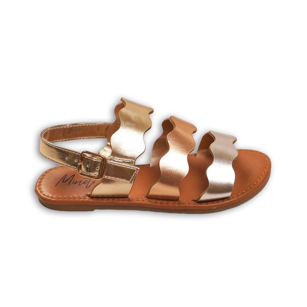 Sandale in curele crestate, Minoti Shoe