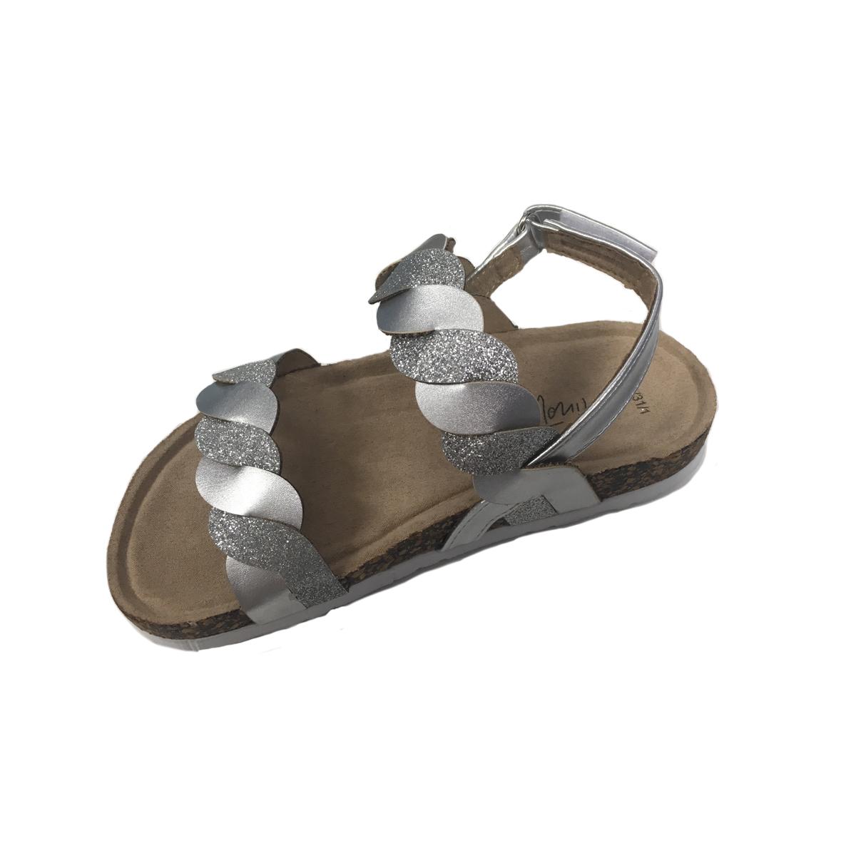 Sandale in curele impletite cu inchidere in catarama, Minoti Shoe