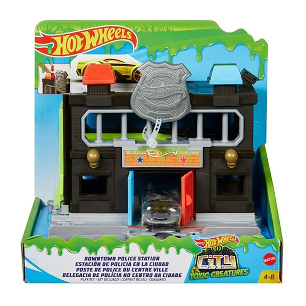 Set circuit cu masinuta Hot Wheels City, Downtown Police Station (GYP38)