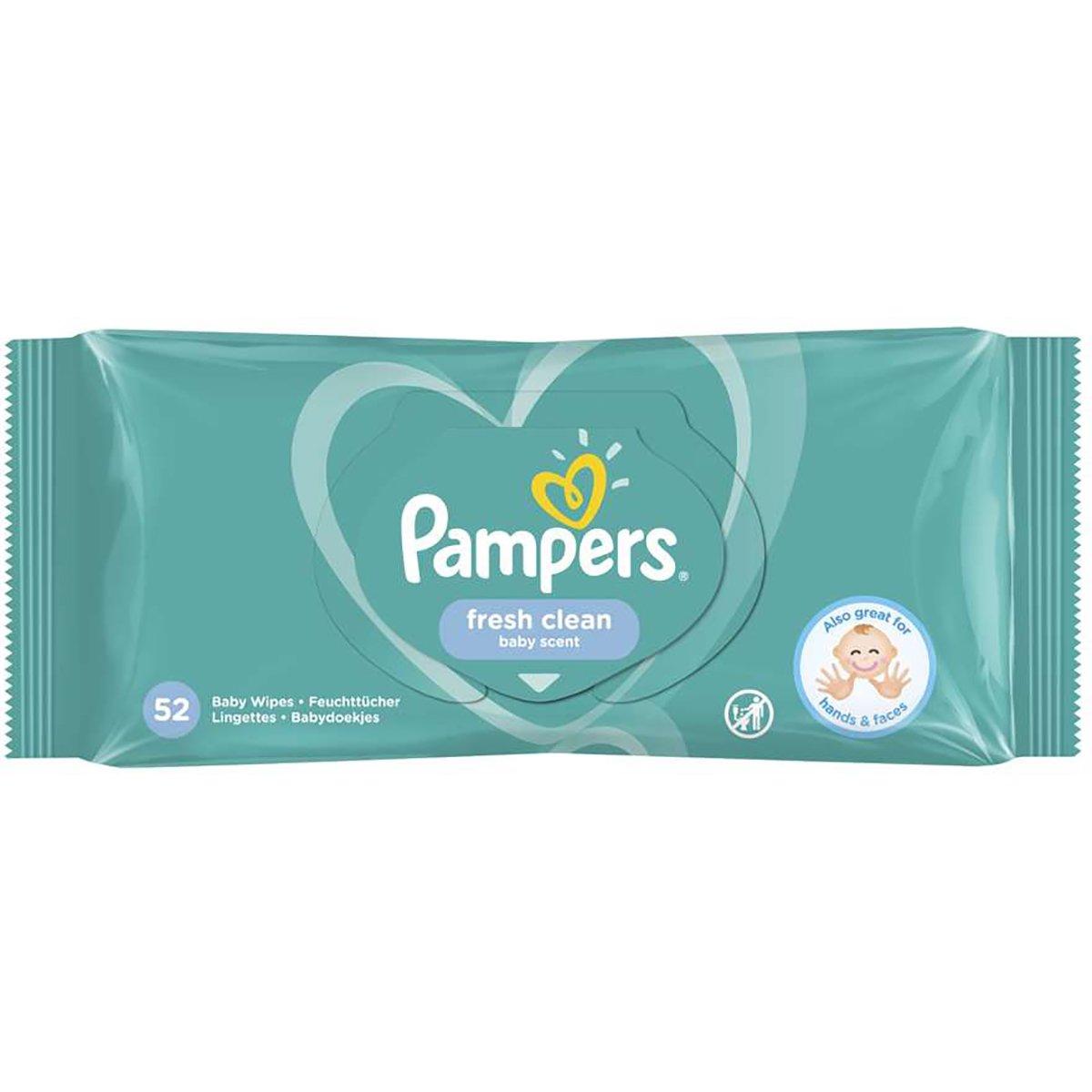Servetele umede Pampers Baby Fresh, 52 buc imagine