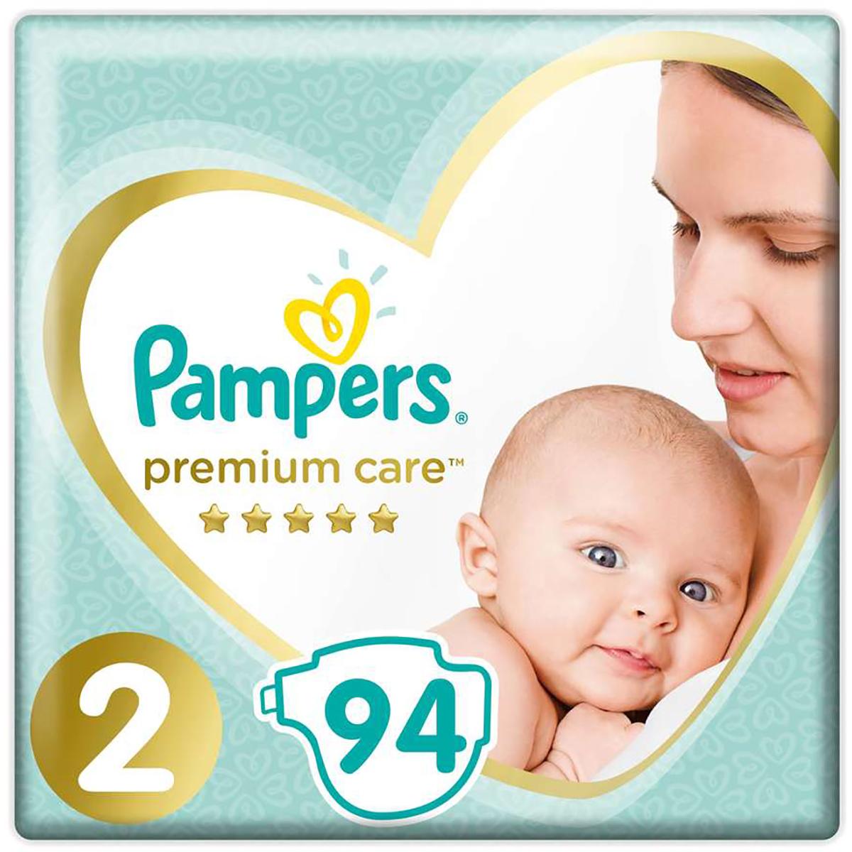 Scutece Pampers Premium Care, Nr 2, 4 - 8 kg, 94 buc