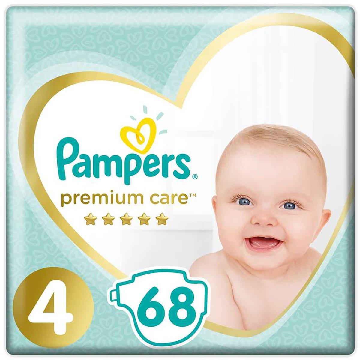 Scutece Pampers Premium Care, Nr 4, 9 - 14 kg, 68 buc imagine