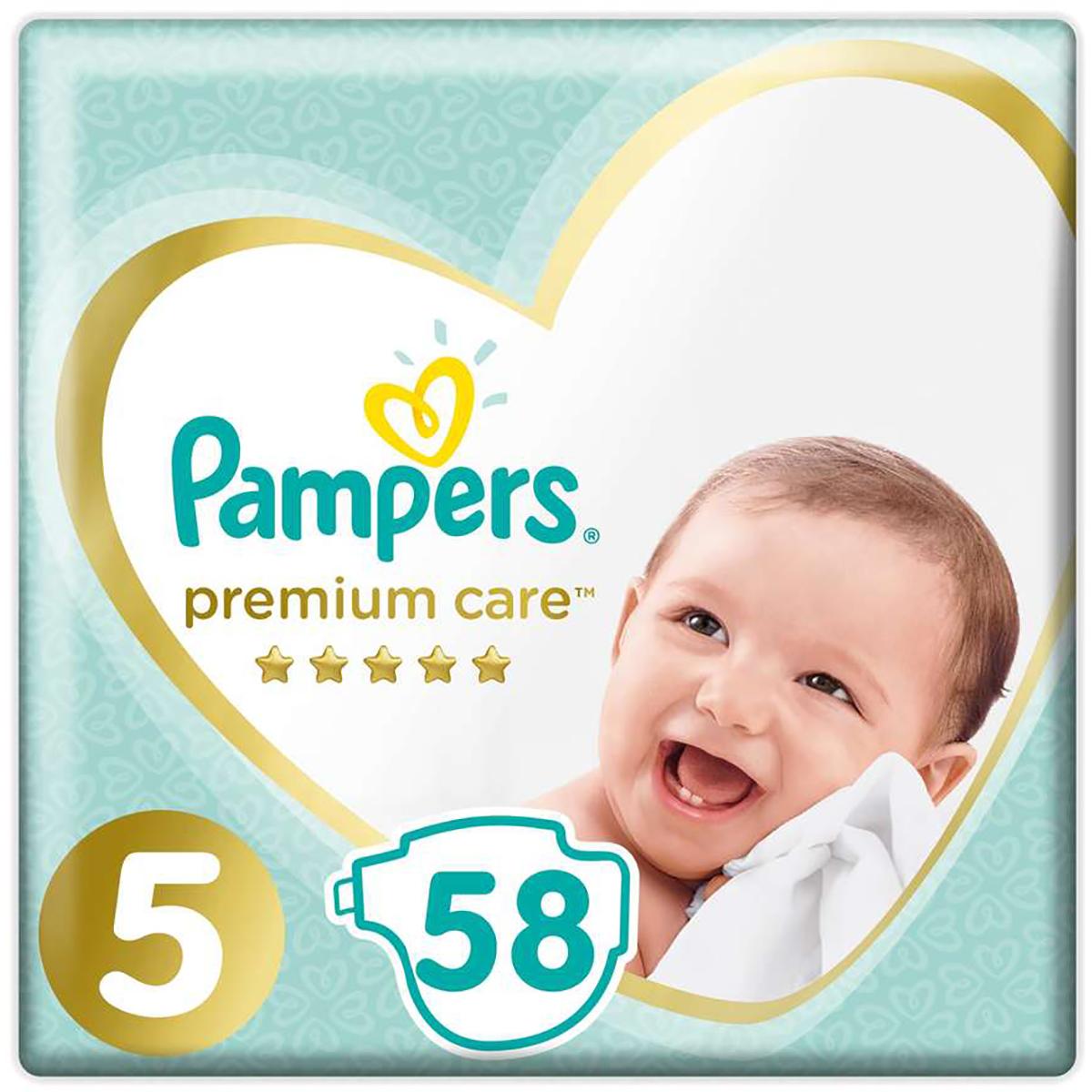 Scutece Pampers Premium Care, Nr 5, 11 - 18 kg, 58 buc imagine