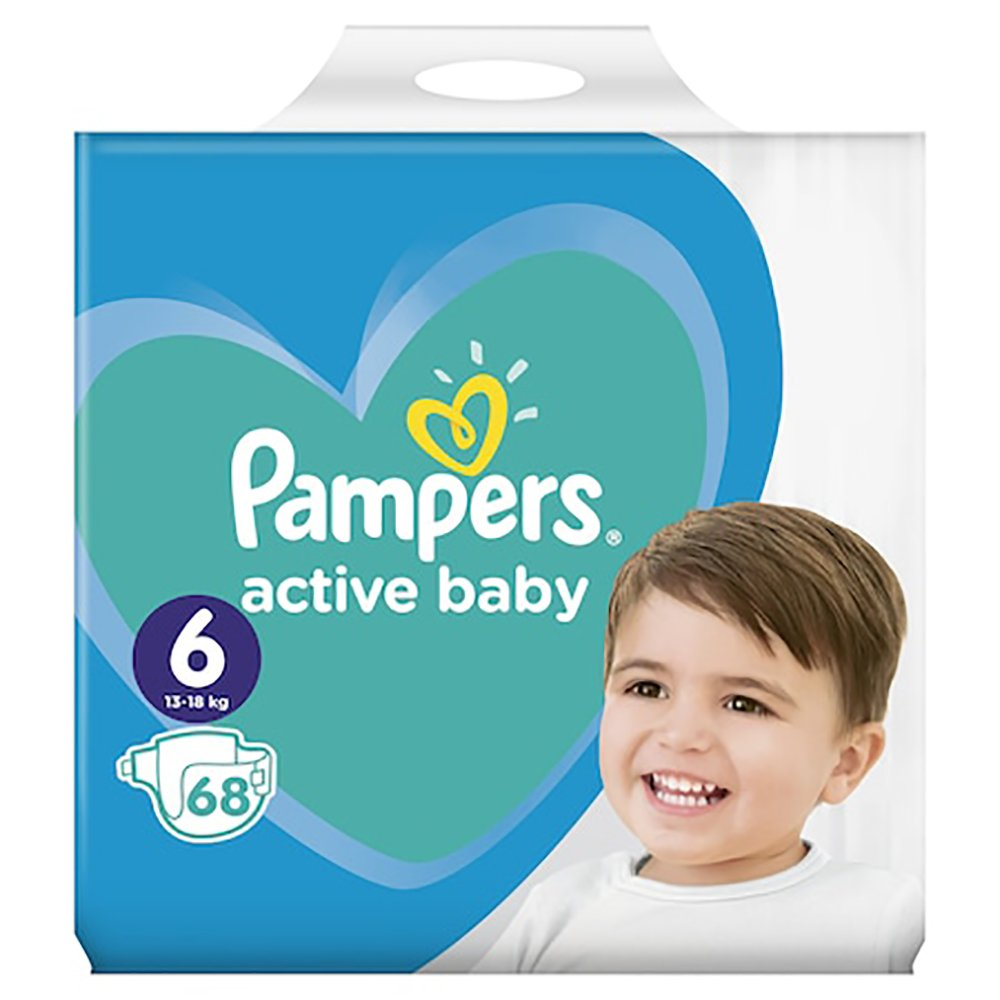 Scutece Pampers Active Baby, Nr 6, 13 - 18 kg, 68 buc imagine