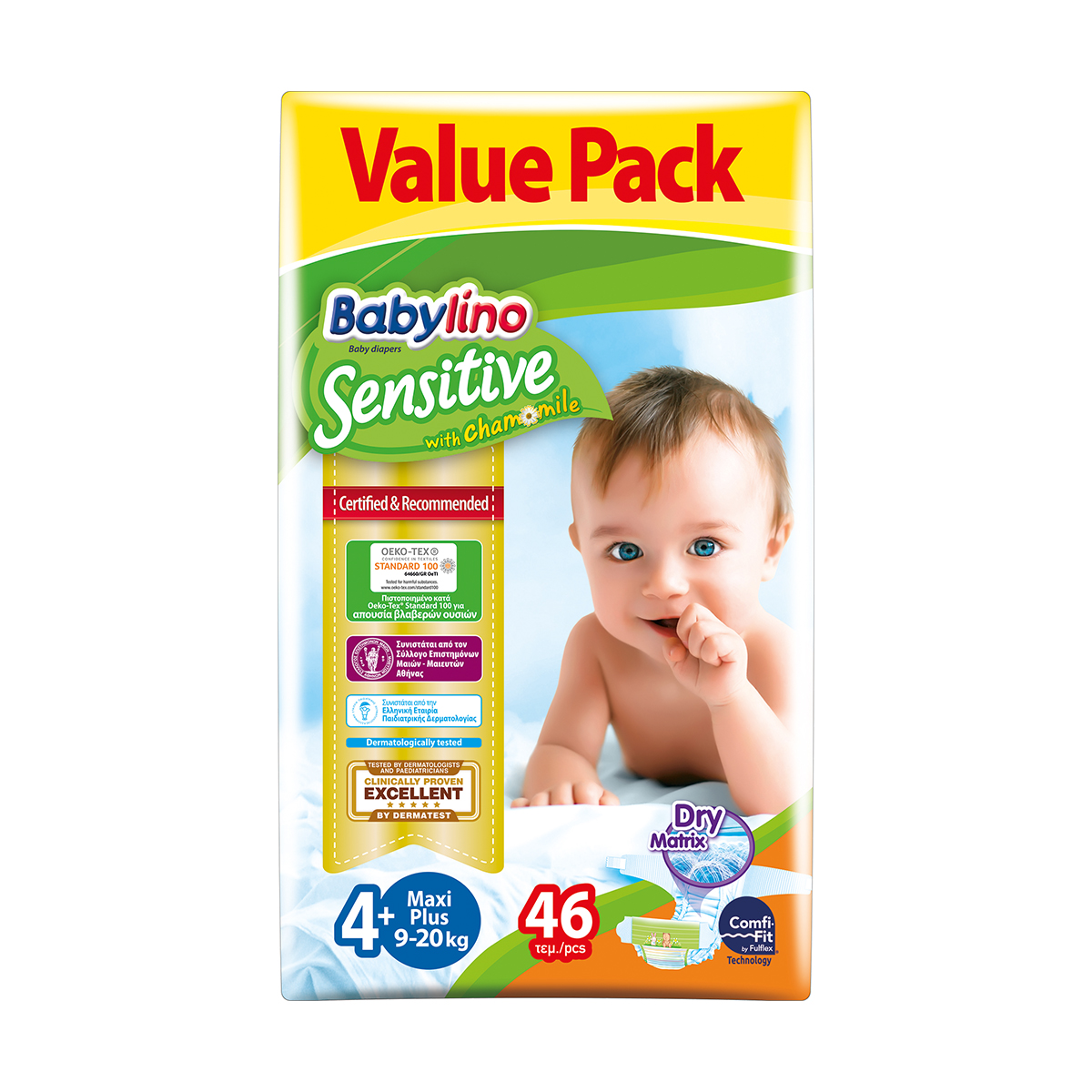 Scutece Babylino Sensitive Economy, N4+, 9-20 kg, 46 Buc.