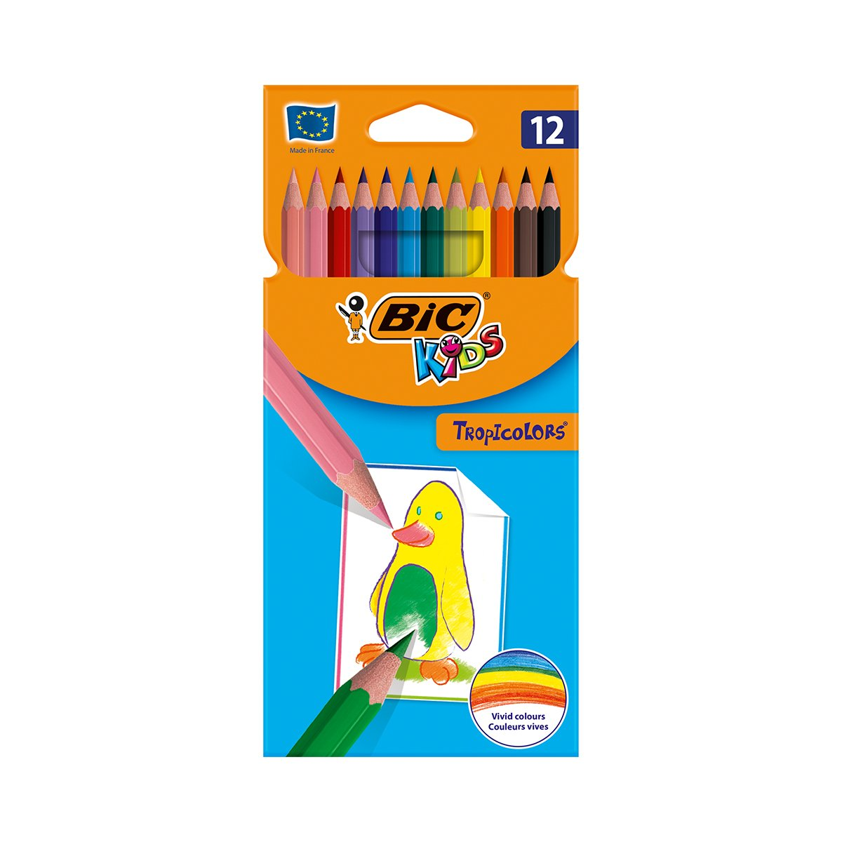 Set creioane colorate Tropicolors Bic, P12