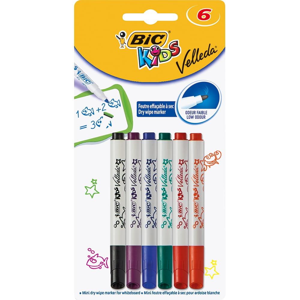 Carioci asortate Velleda Kids Bic, 6 culori