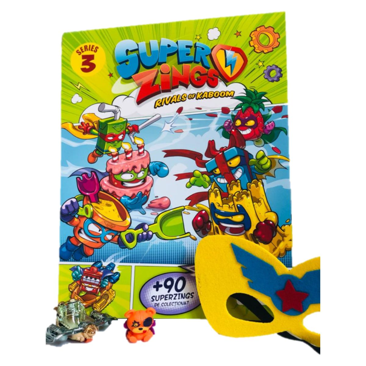 Pachet SuperZings, jucarie si poster, S3