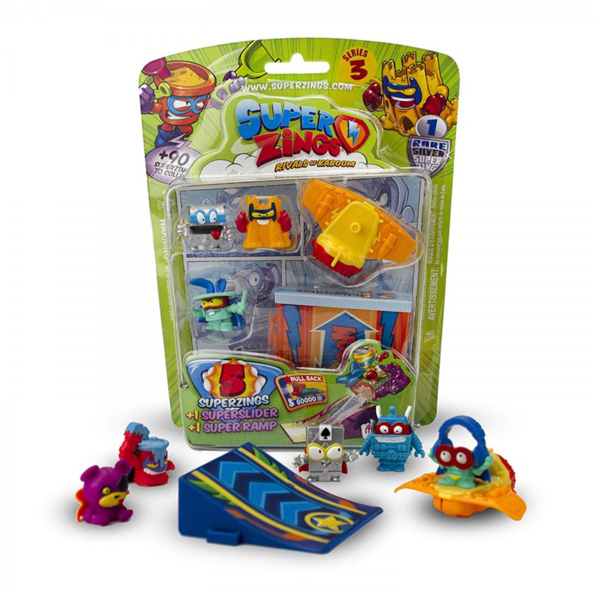 Set 5 figurine SuperZings, cu accesorii, S3