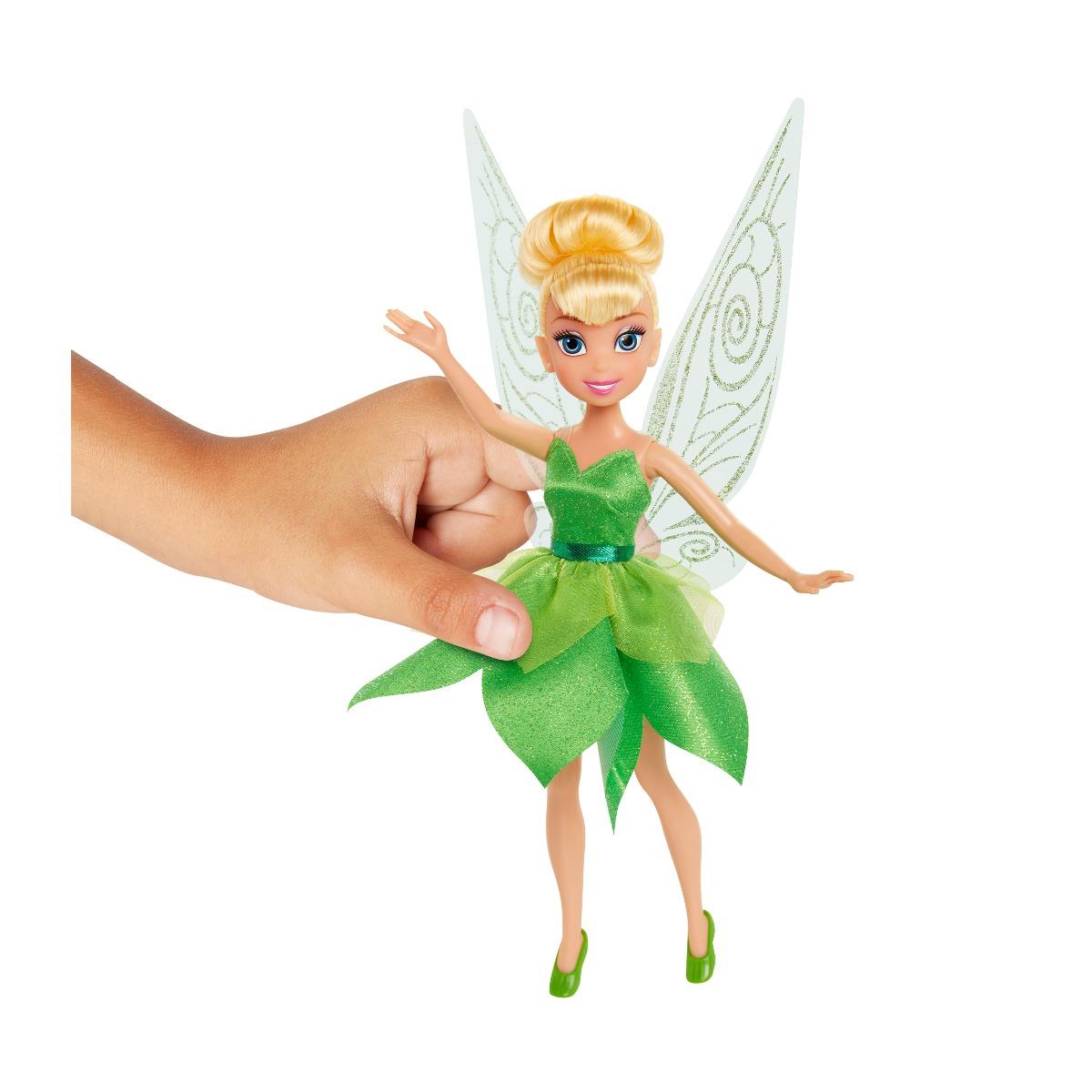 Papusa Disney Fairies, Tinker Bell, Verde, 23 cm