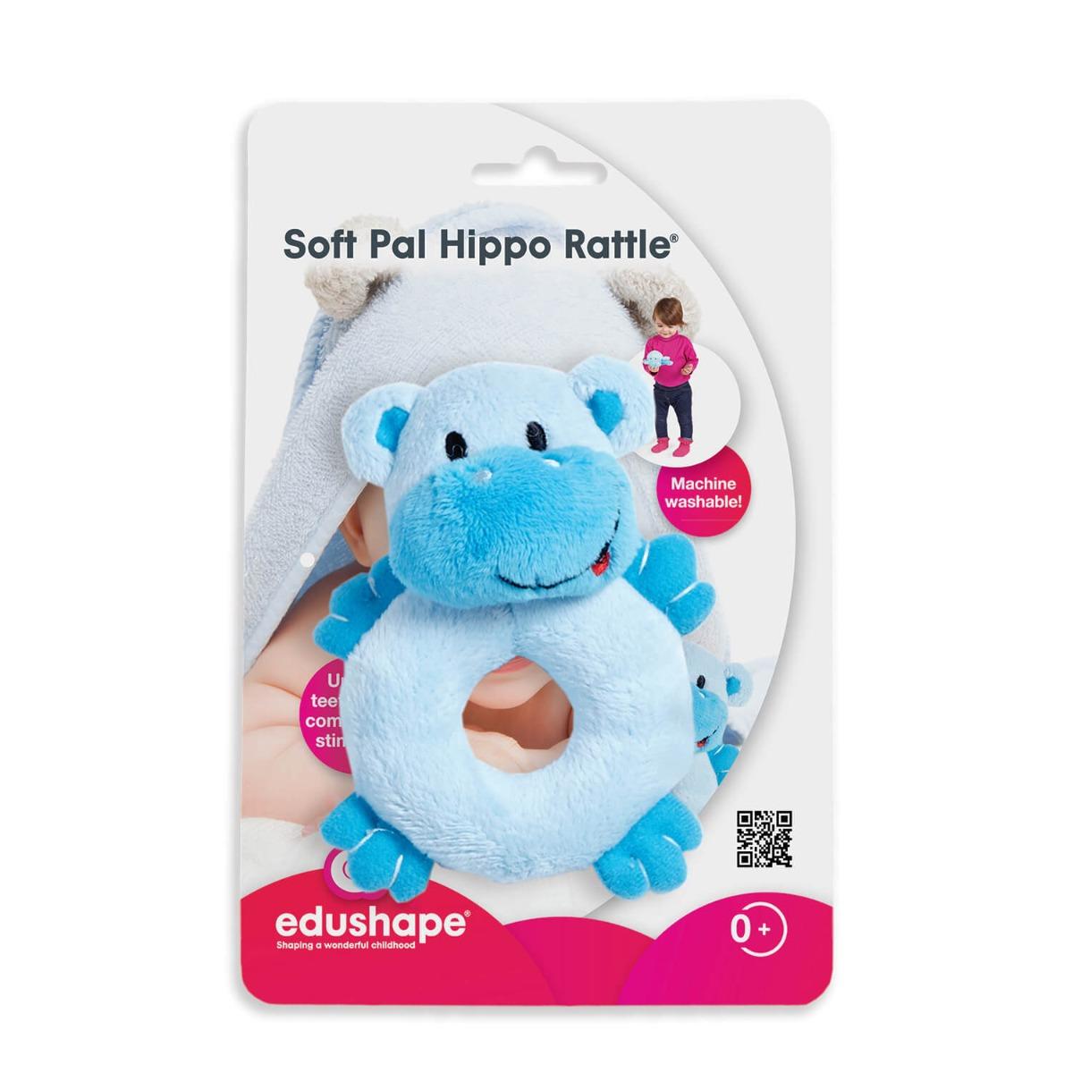 Jucarie pentru dentitie Edushape, Hipopotam