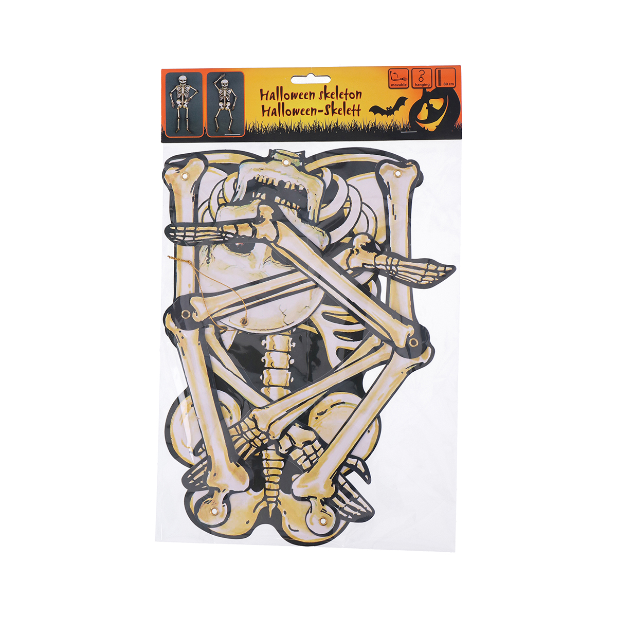 Decoratiune schelet halloween, 80 cm imagine