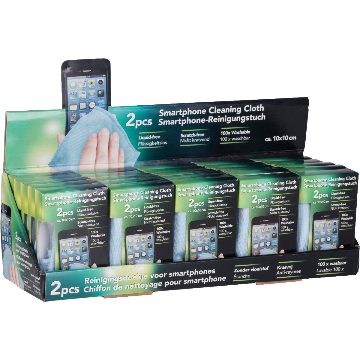 Accesoriu de curatat telefonul si tableta Edco, 10 x 10 cm