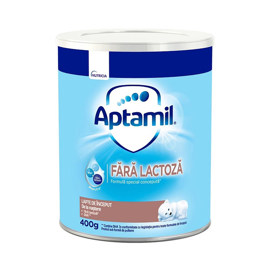 Lapte praf de inceput Aptamil fara lactoza, 400 g imagine