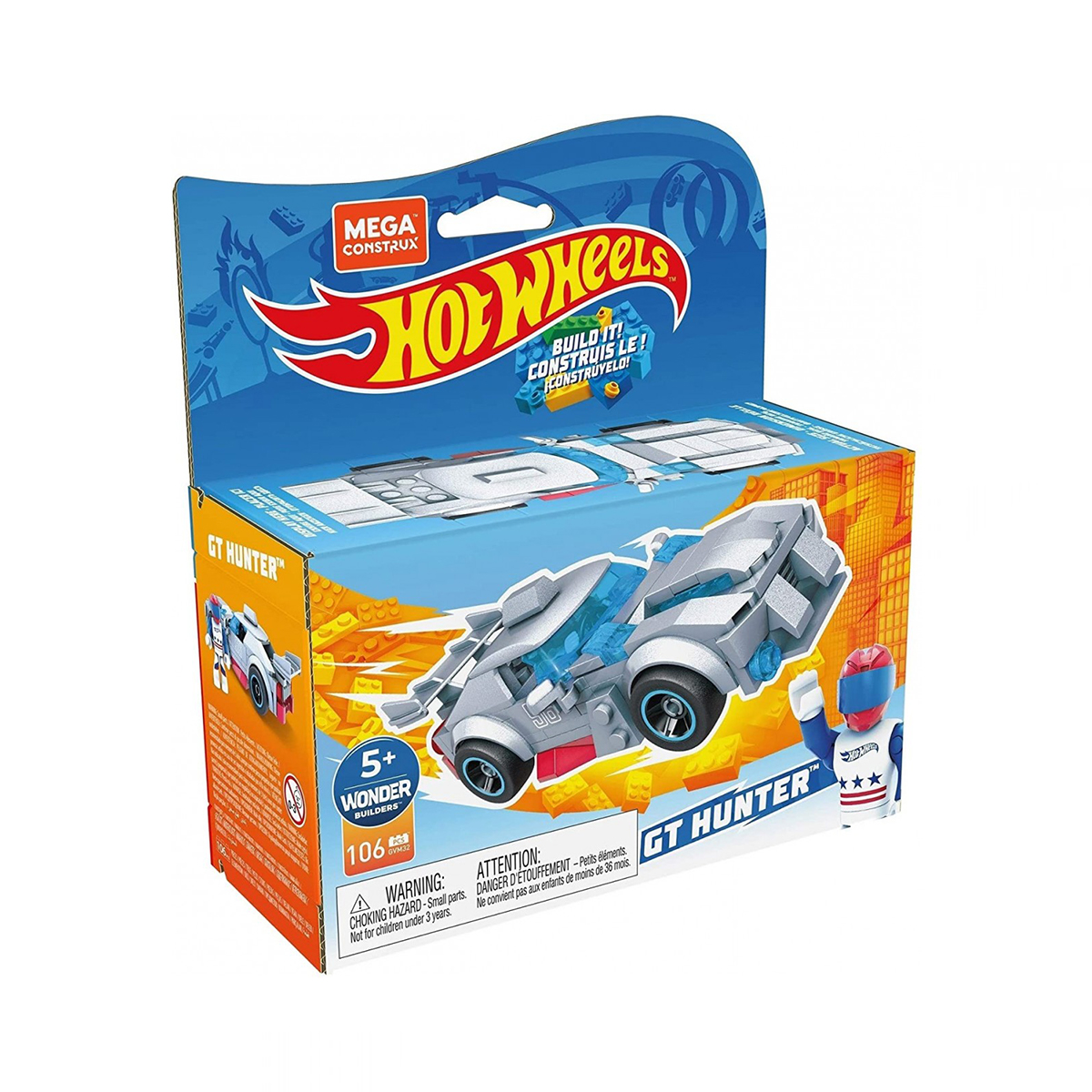 Masinuta Hot Wheels, MegaConstrux, Rockin Racers, GVM32