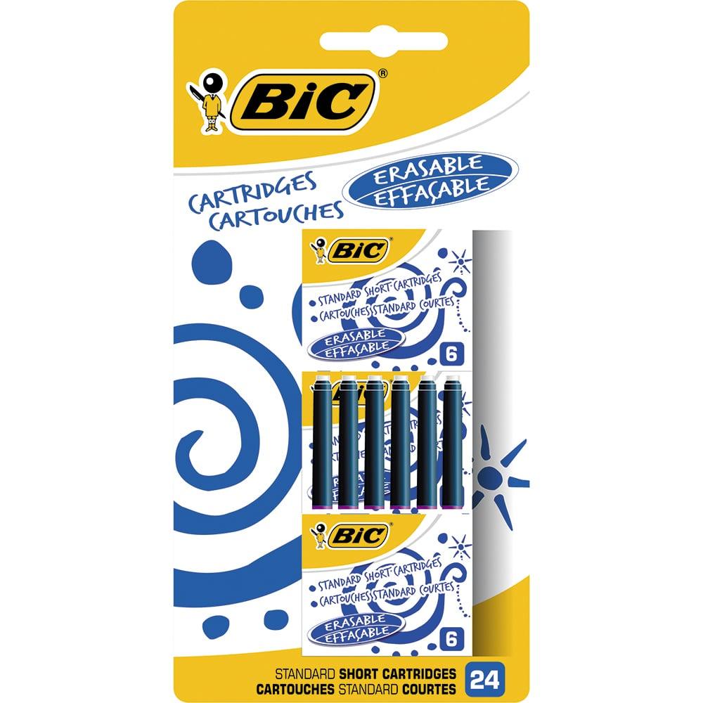 Rezerve pentru stilou Bic, Albastru, 24 buc