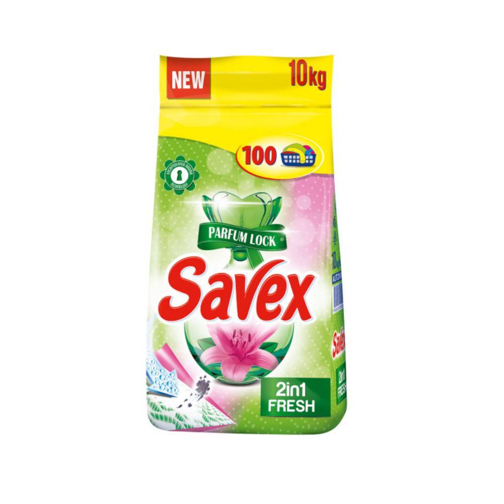 Detergent automat Savex 2 in 1 Fresh, 10Kg imagine 2021