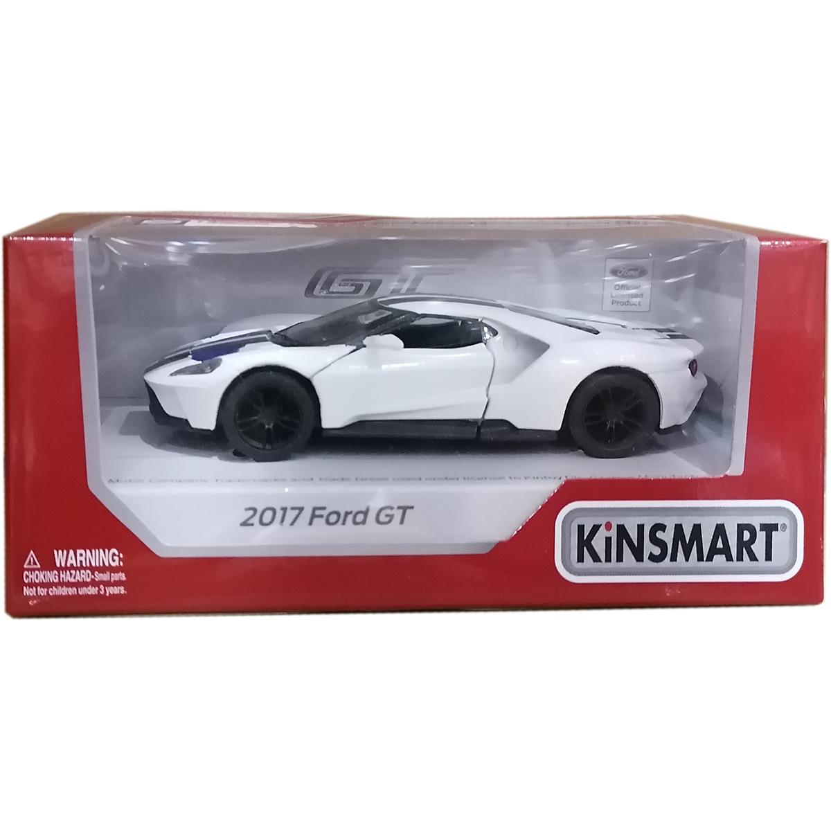 Masinuta din metal Kinsmart, Ford GT 2017, Alb