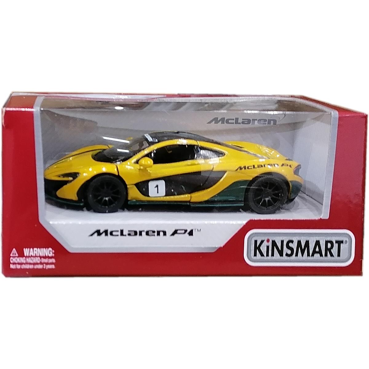 Masinuta din metal Kinsmart, McLaren P1, Galben