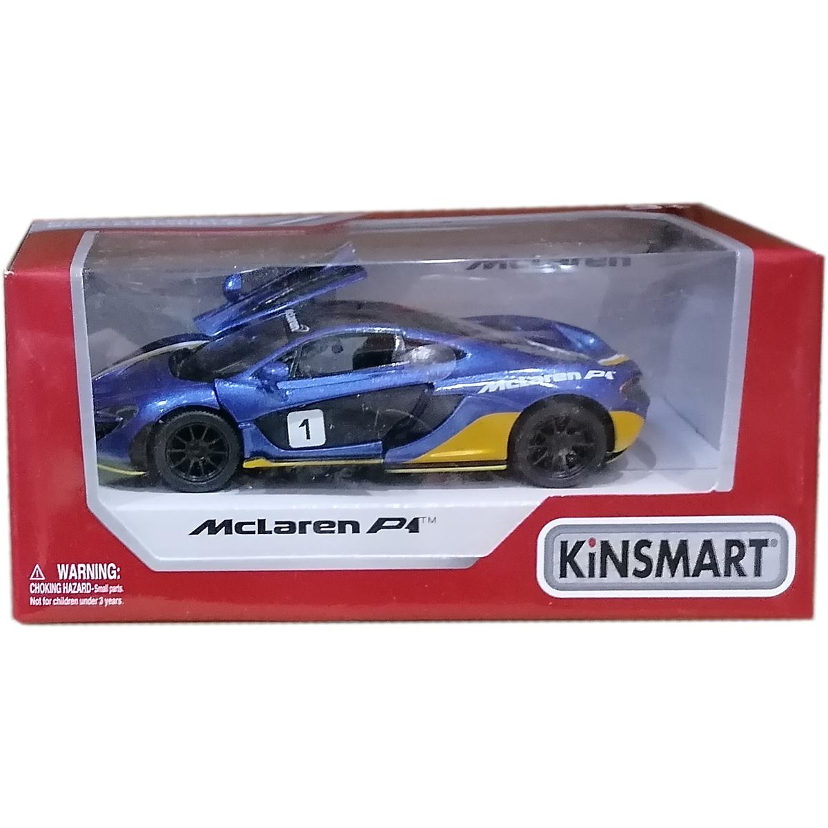 Masinuta din metal Kinsmart, McLaren P1, Albastru
