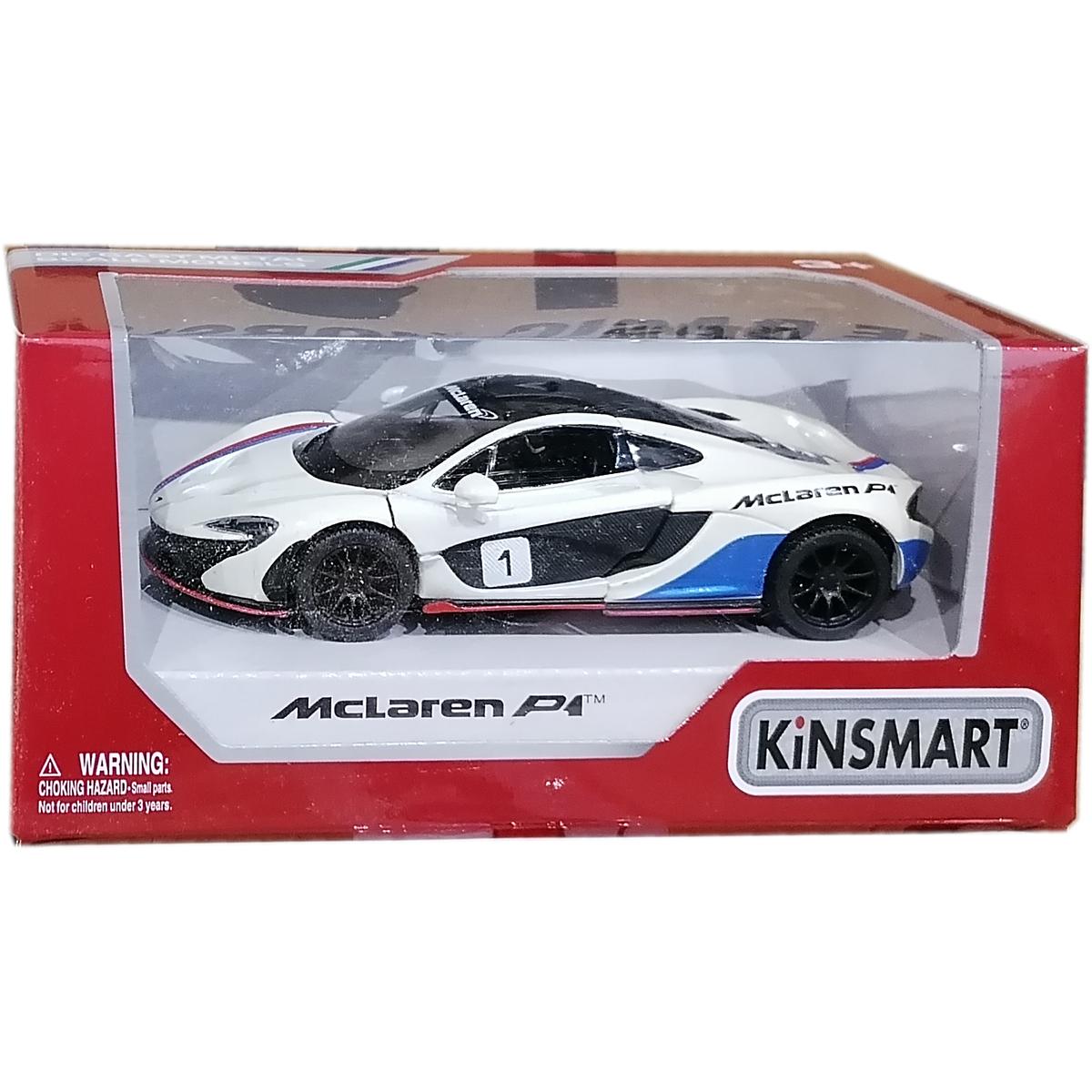 Masinuta din metal Kinsmart, McLaren P1, Alb