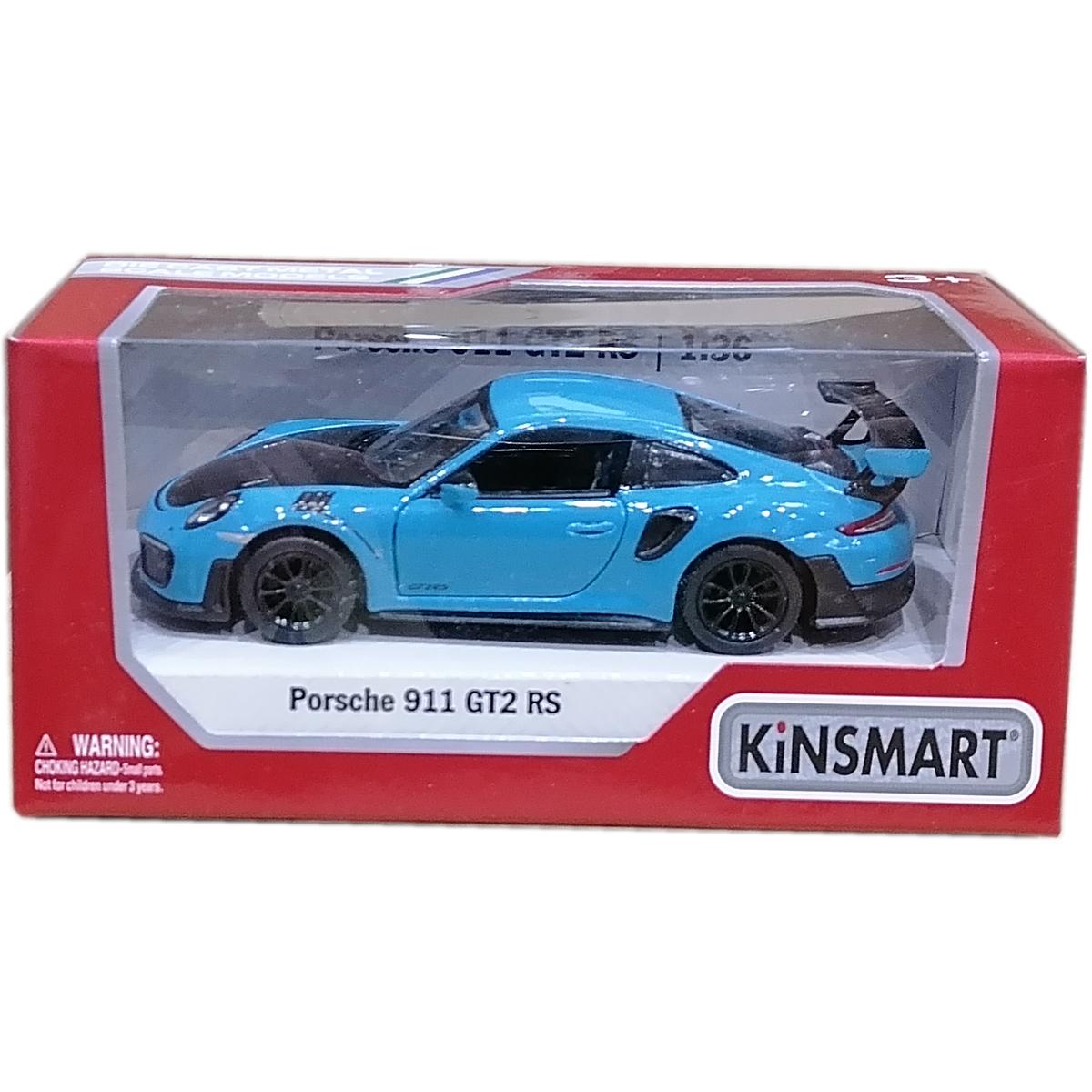 Masinuta din metal Kinsmart, Porsche 911 GT2 RS, Albastru