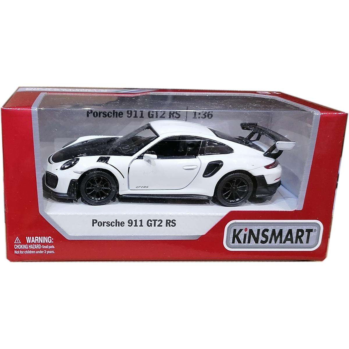 Masinuta din metal Kinsmart, Porsche 911 GT2 RS, Alb