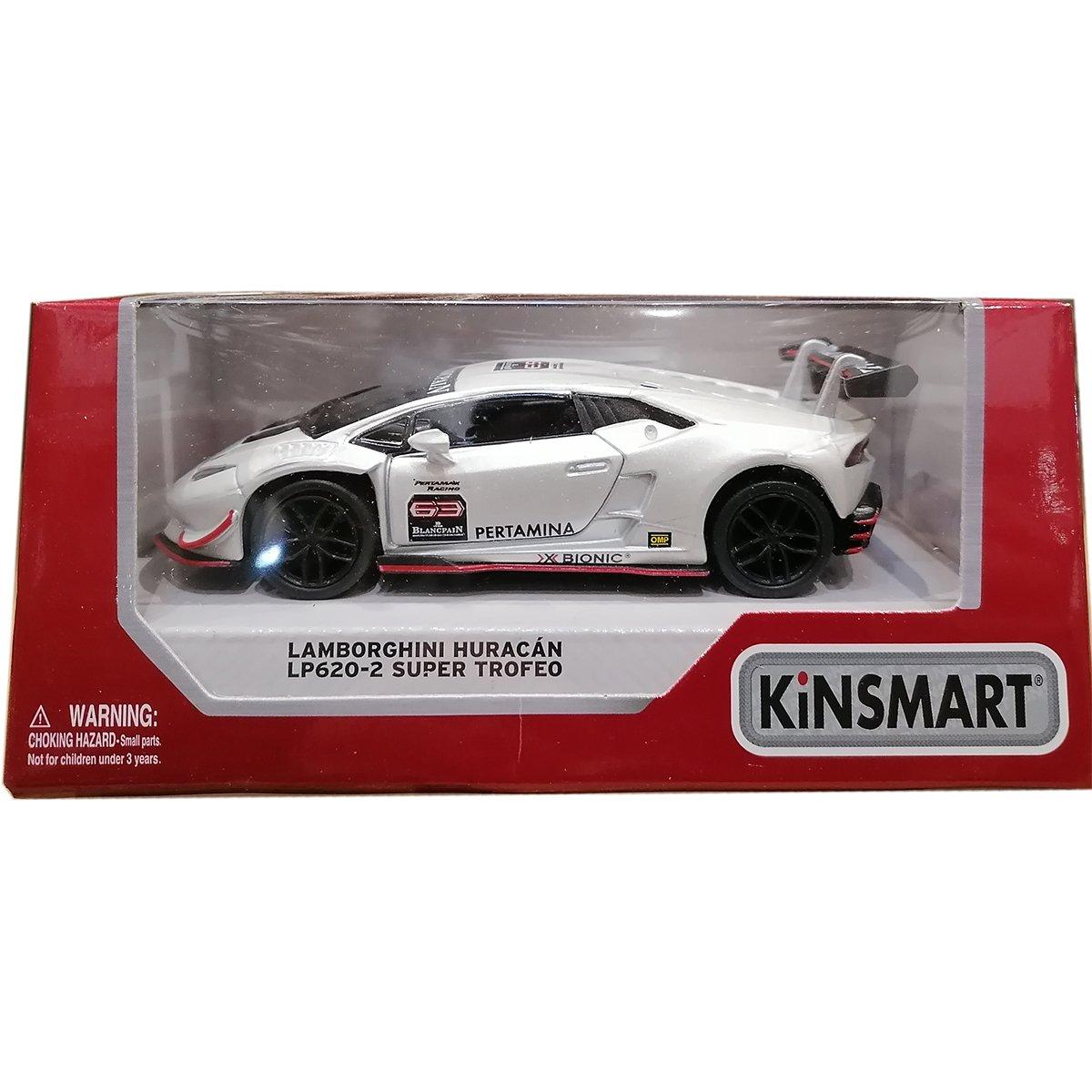 Masinuta din metal Kinsmart, Lamborghini Huracan, Alb