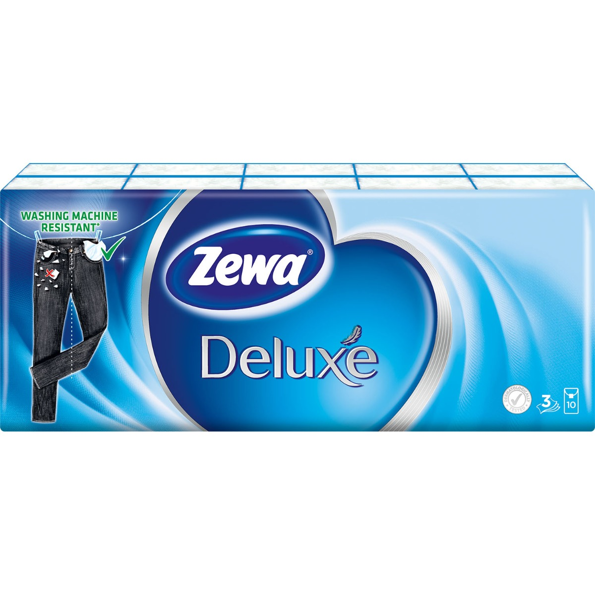 Set Batiste nazale Zewa Deluxe, 3 straturi, 10x10 bucati imagine 2021