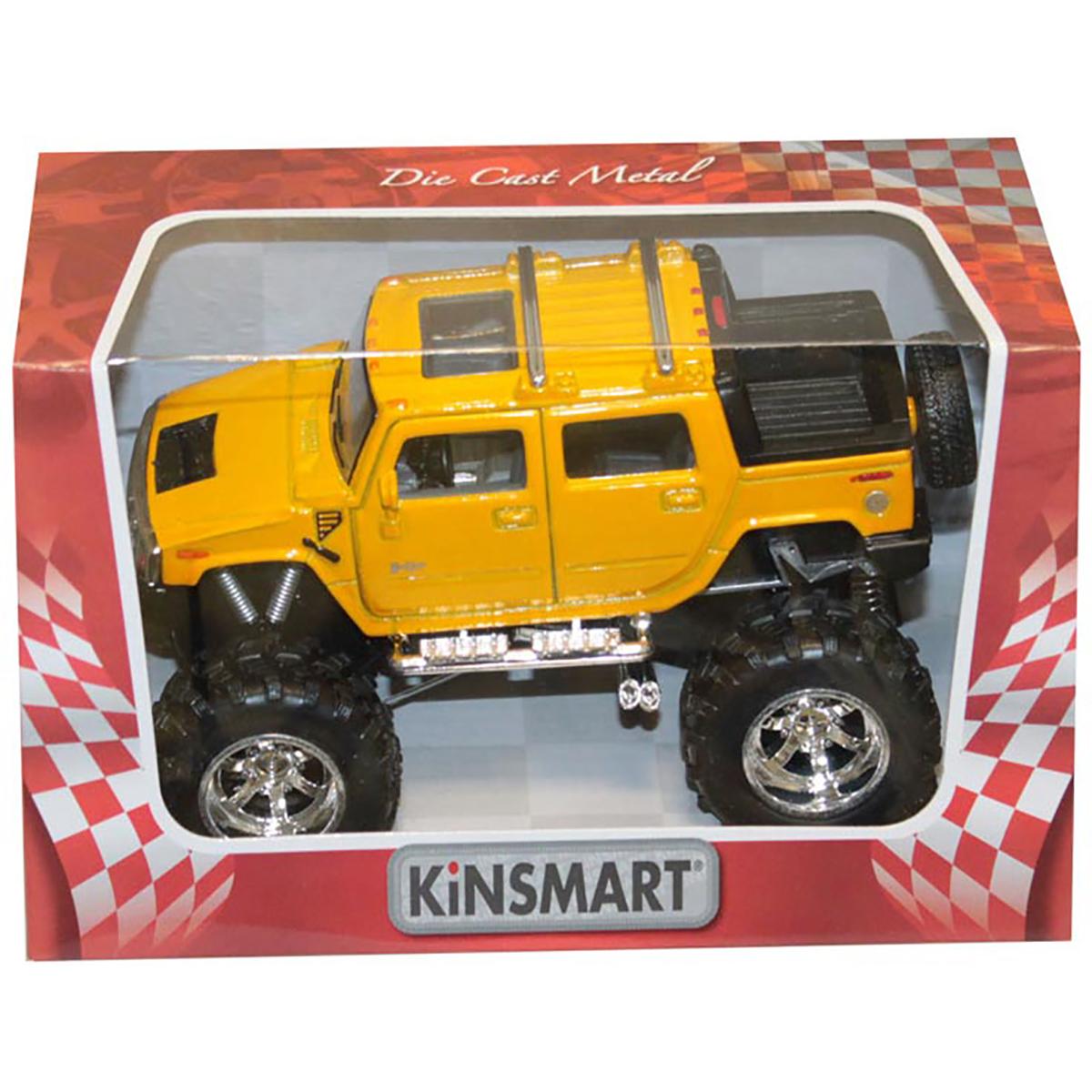 Masinuta metalica de off-road Kinsmart, Hummer, Galben
