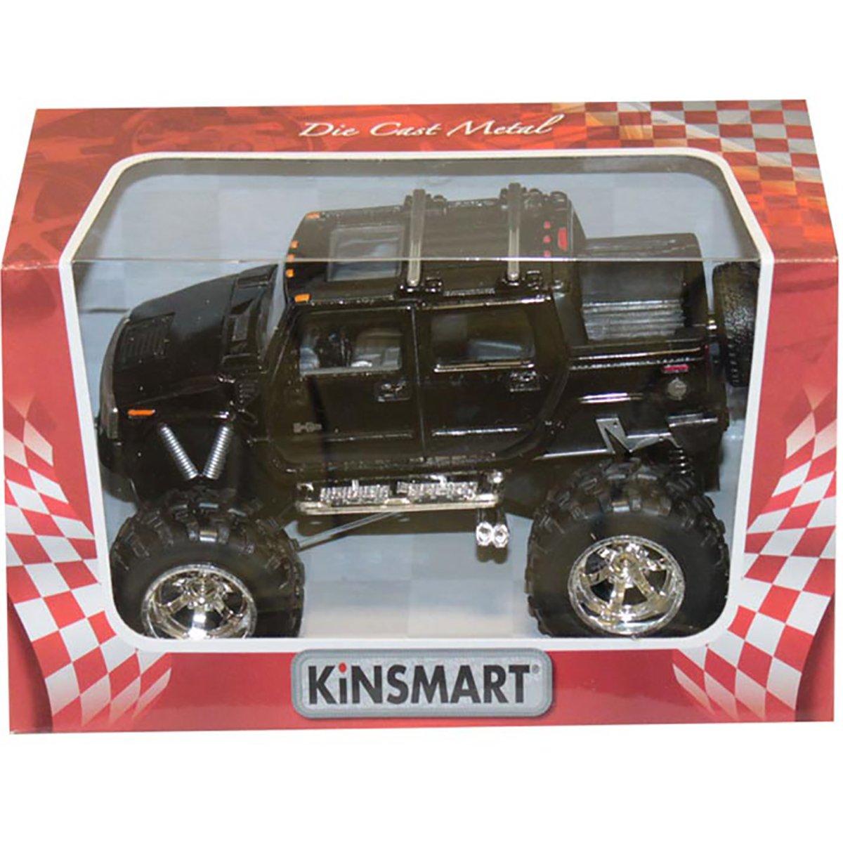 Masinuta metalica de off-road Kinsmart, Hummer, Negru