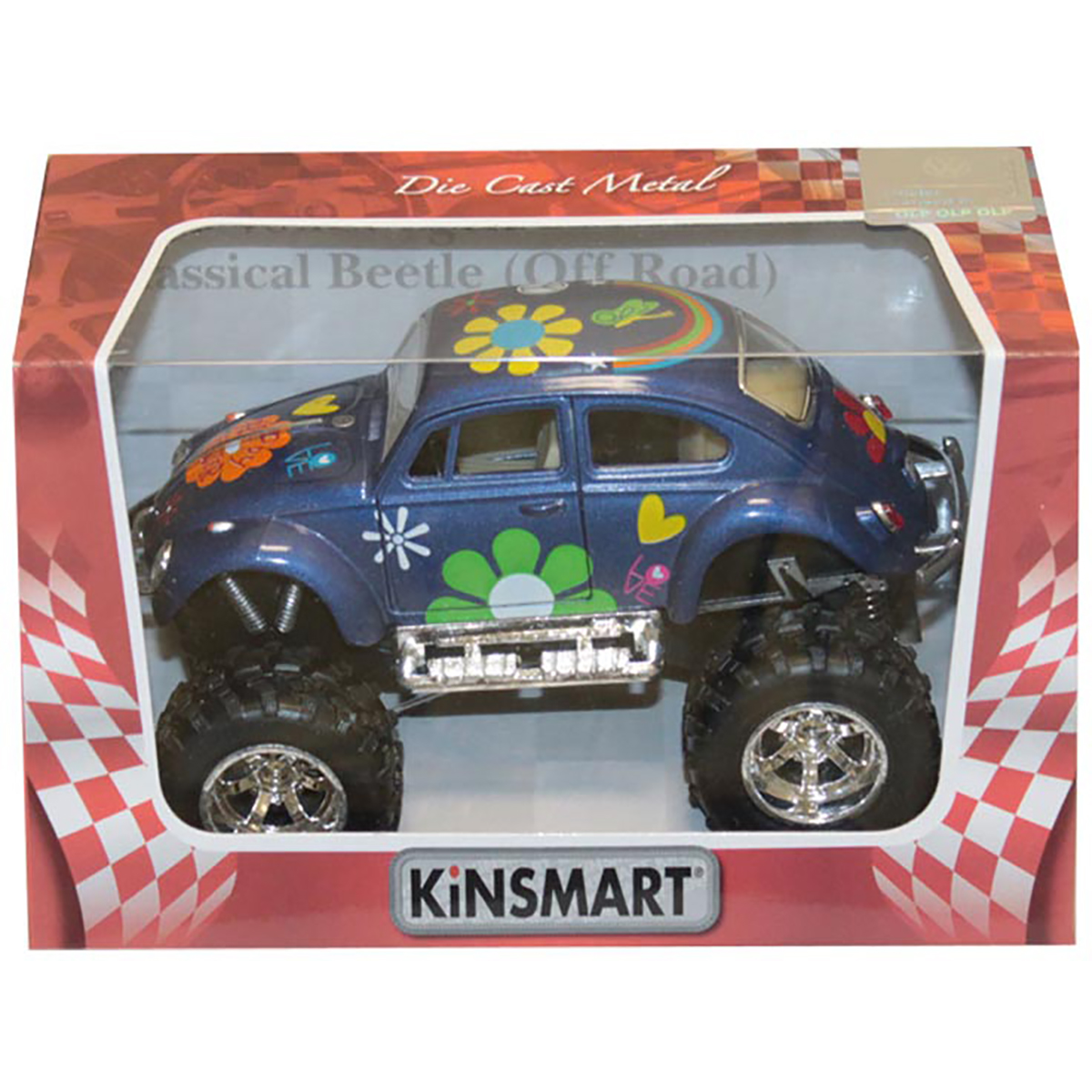Masinuta metalica de off-road Kinsmart, Volkswagen Beetle, Albastru