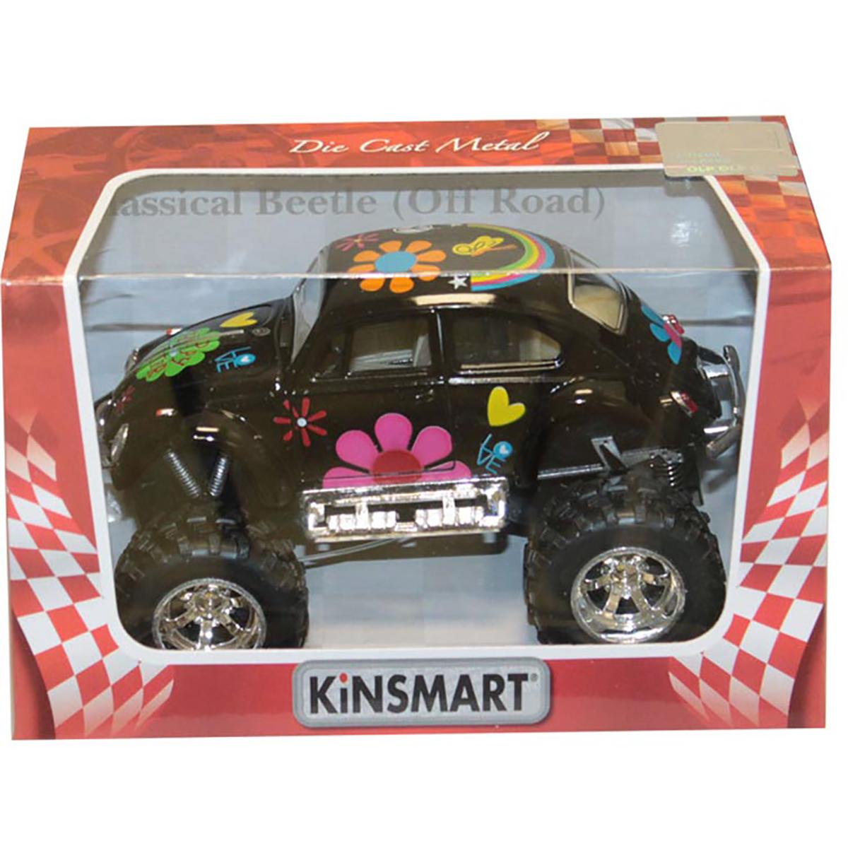 Masinuta metalica de off-road Kinsmart, Volkswagen Beetle, Negru