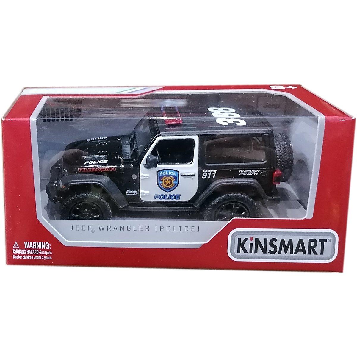 Masinuta metalica de politie Kinsmart, Jeep Wrangler