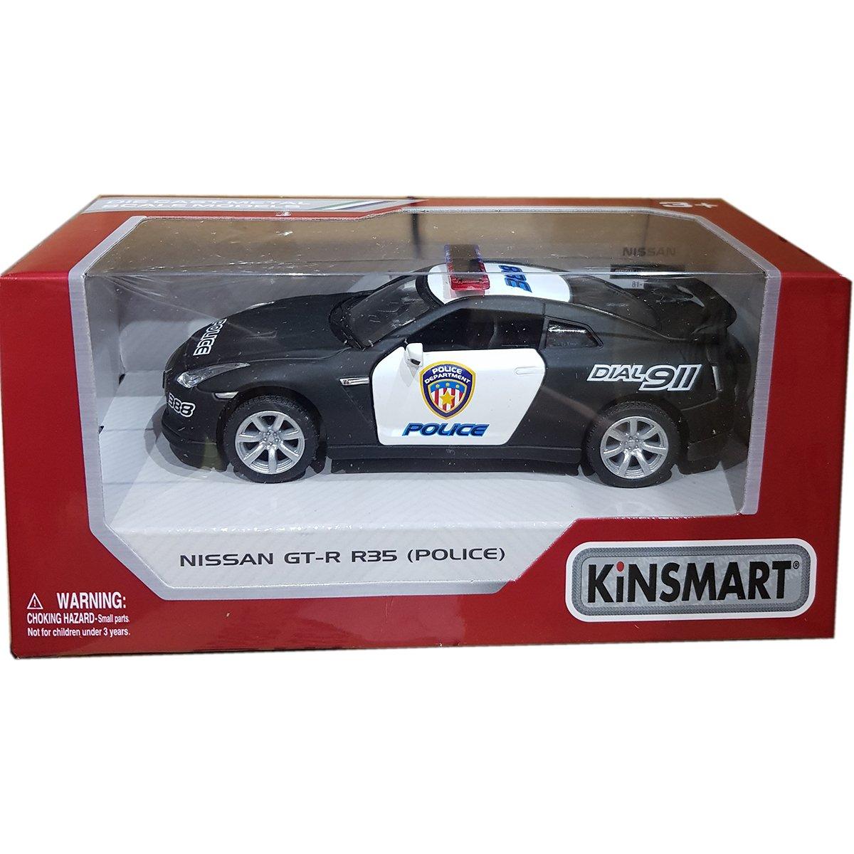 Masinuta metalica de politie Kinsmart, Nissan GT-R R35 imagine